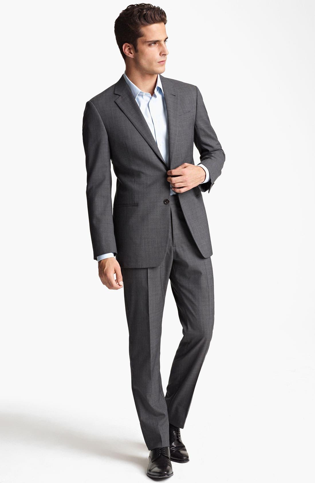 Alternate Image 2  - Armani Collezioni Trim Fit Wool Blend Suit