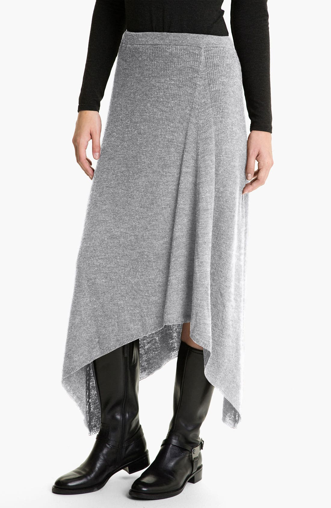 Alternate Image 1 Selected - Eileen Fisher Merino Jersey Rib Knit Skirt  (Online Exclusive)