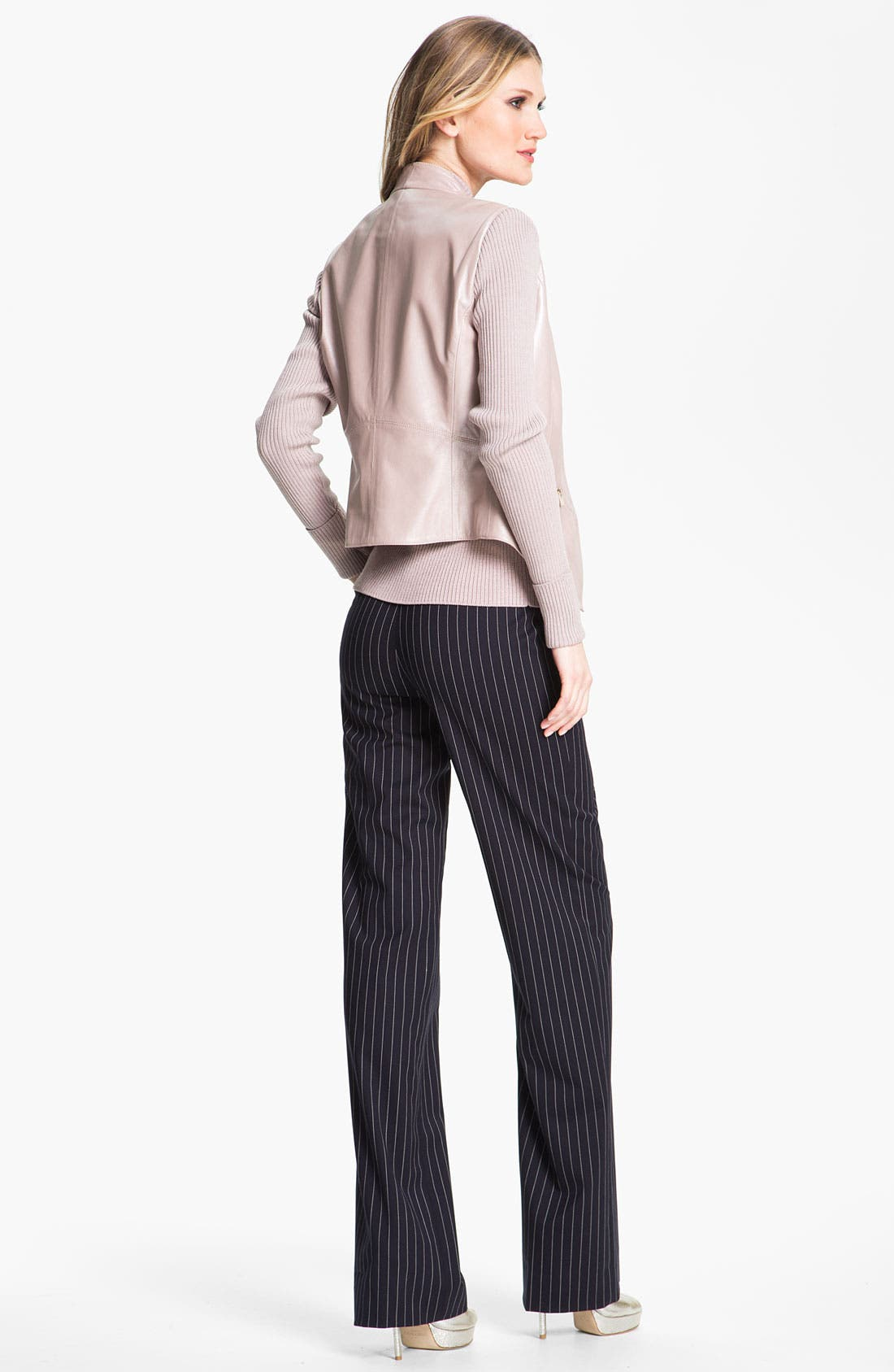 Alternate Image 4  - St. John Collection 'Shelley' Pinstripe Flare Leg Pants