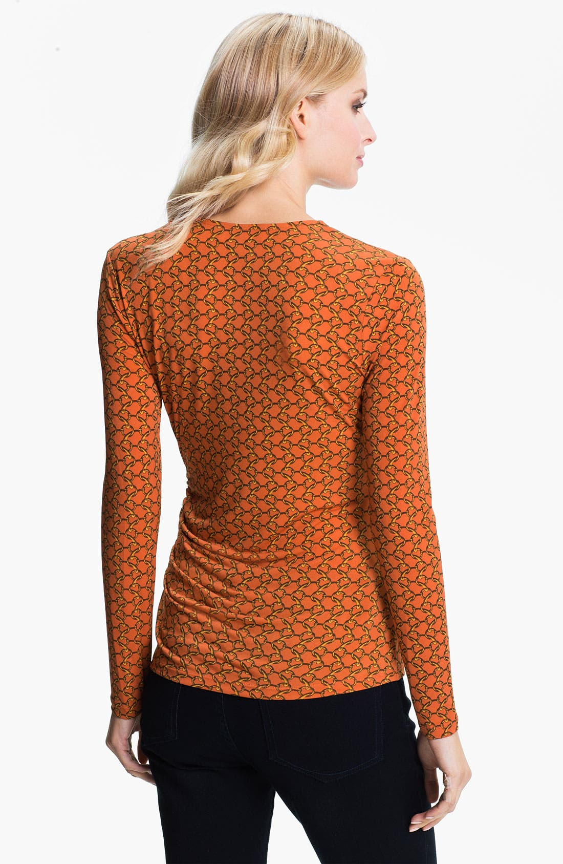 Alternate Image 2  - MICHAEL Michael Kors Zip Trim Faux Wrap Top