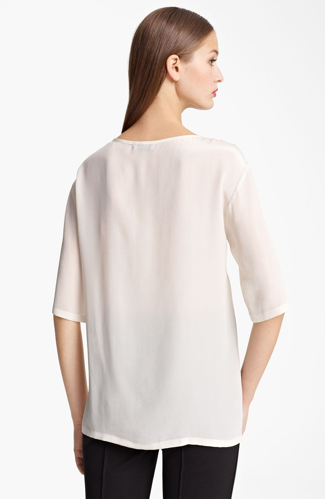 Alternate Image 2  - Moschino Cheap & Chic 'Tea Shirt' Print Silk Tee