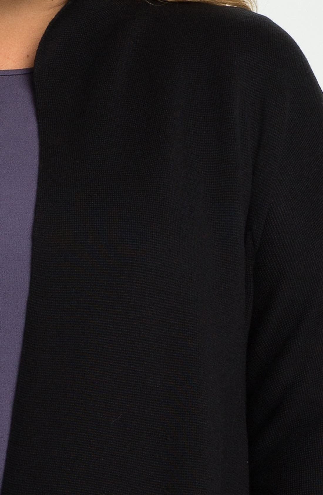 Alternate Image 3  - Eileen Fisher Silk Blend Knit Jacket (Plus)