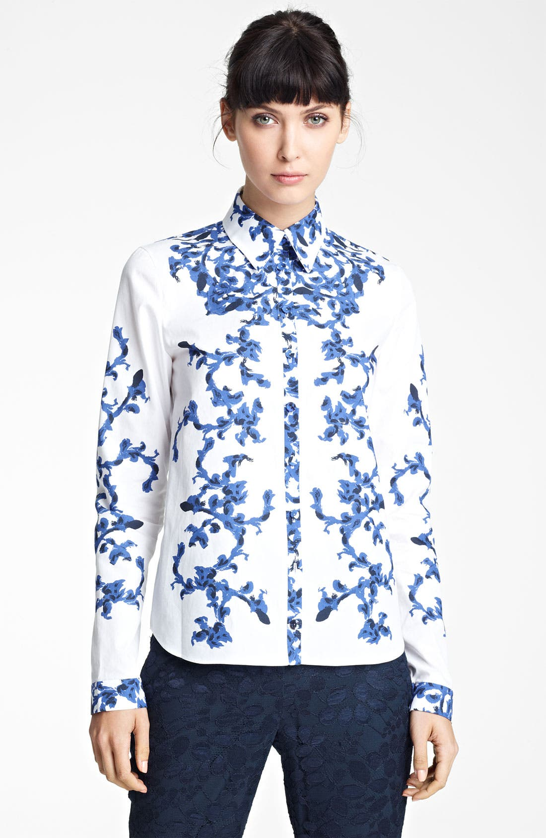 Alternate Image 1 Selected - Erdem Print Woven Shirt