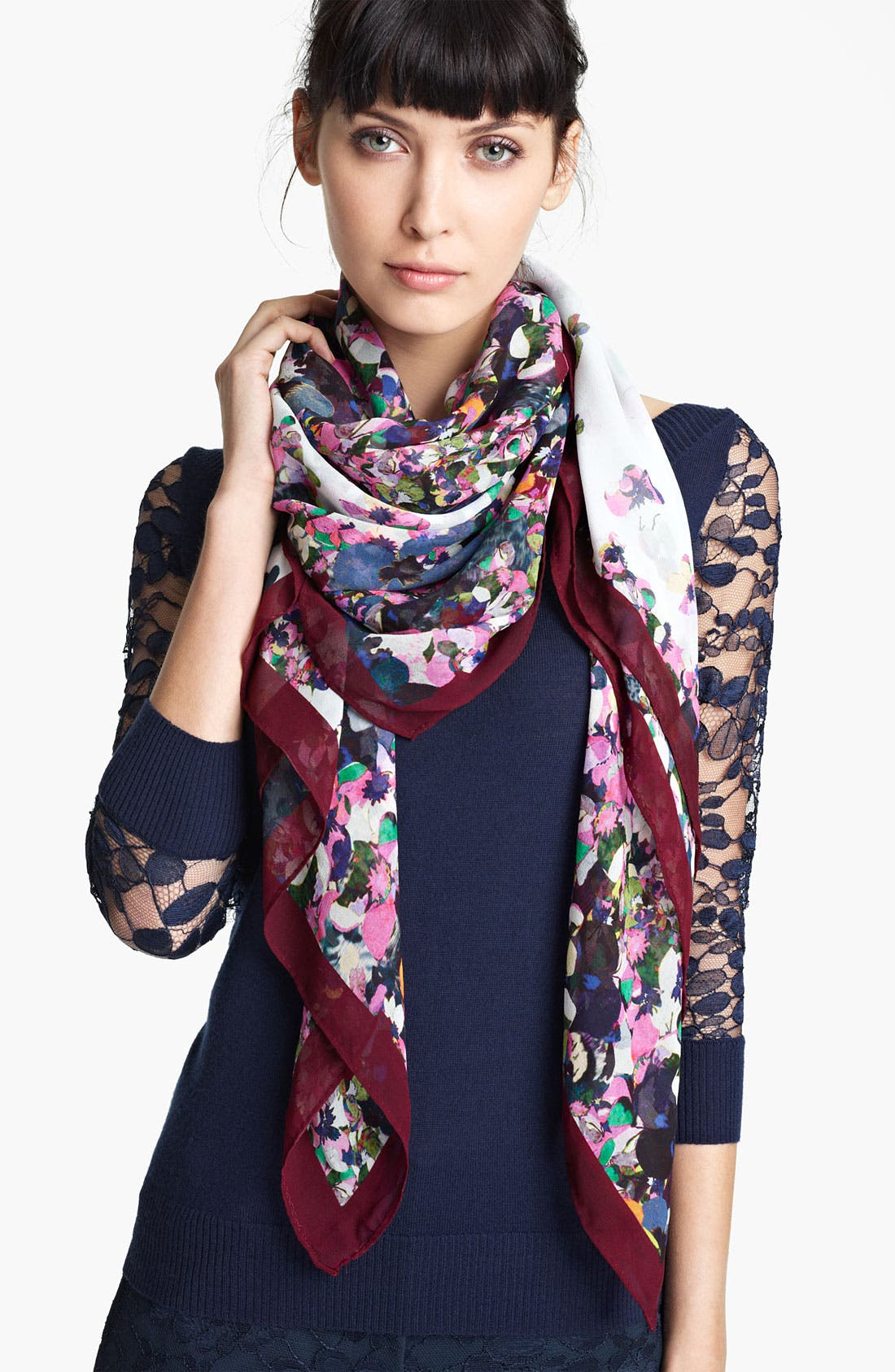 Alternate Image 1 Selected - Erdem Print Silk Voile Scarf