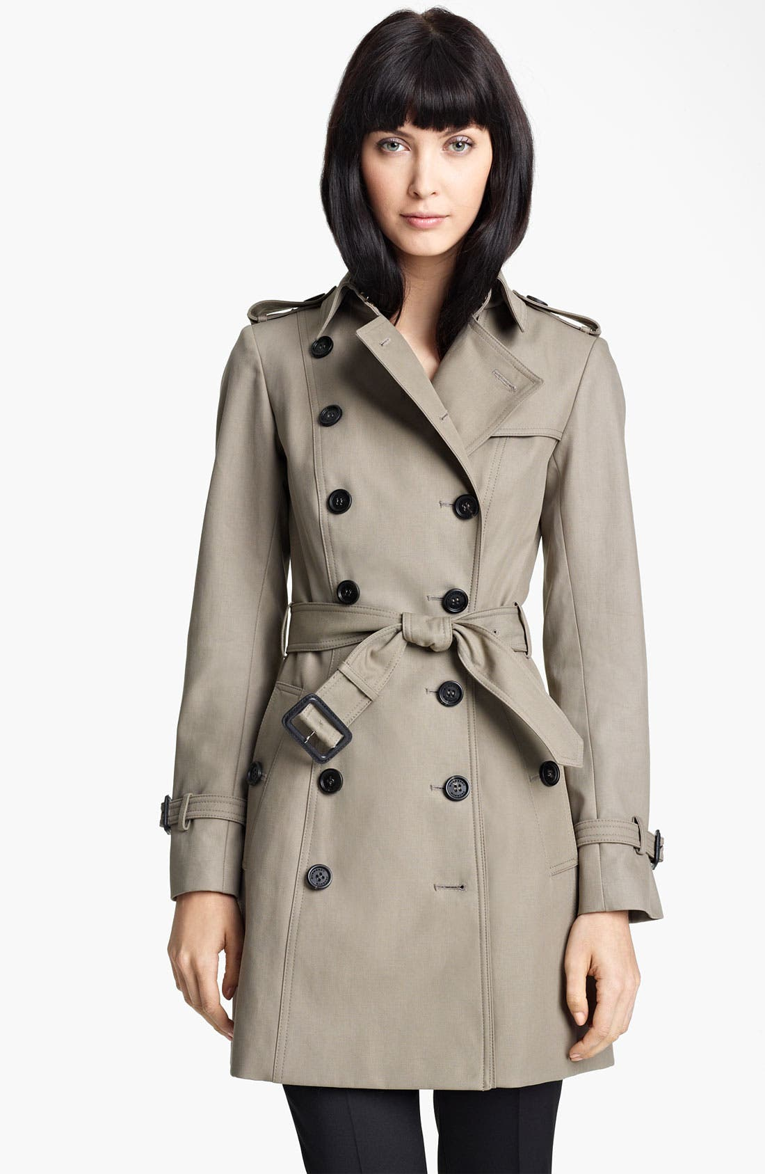 Main Image - Burberry Prorsum Belted Twill Trench Coat