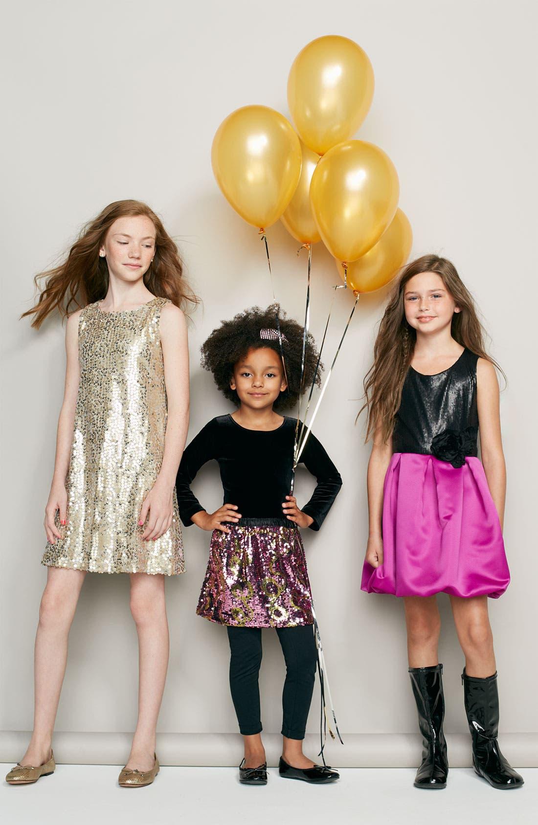 Alternate Image 4  - Zoe Ltd Sequin Bubble Dress (Big Girls)