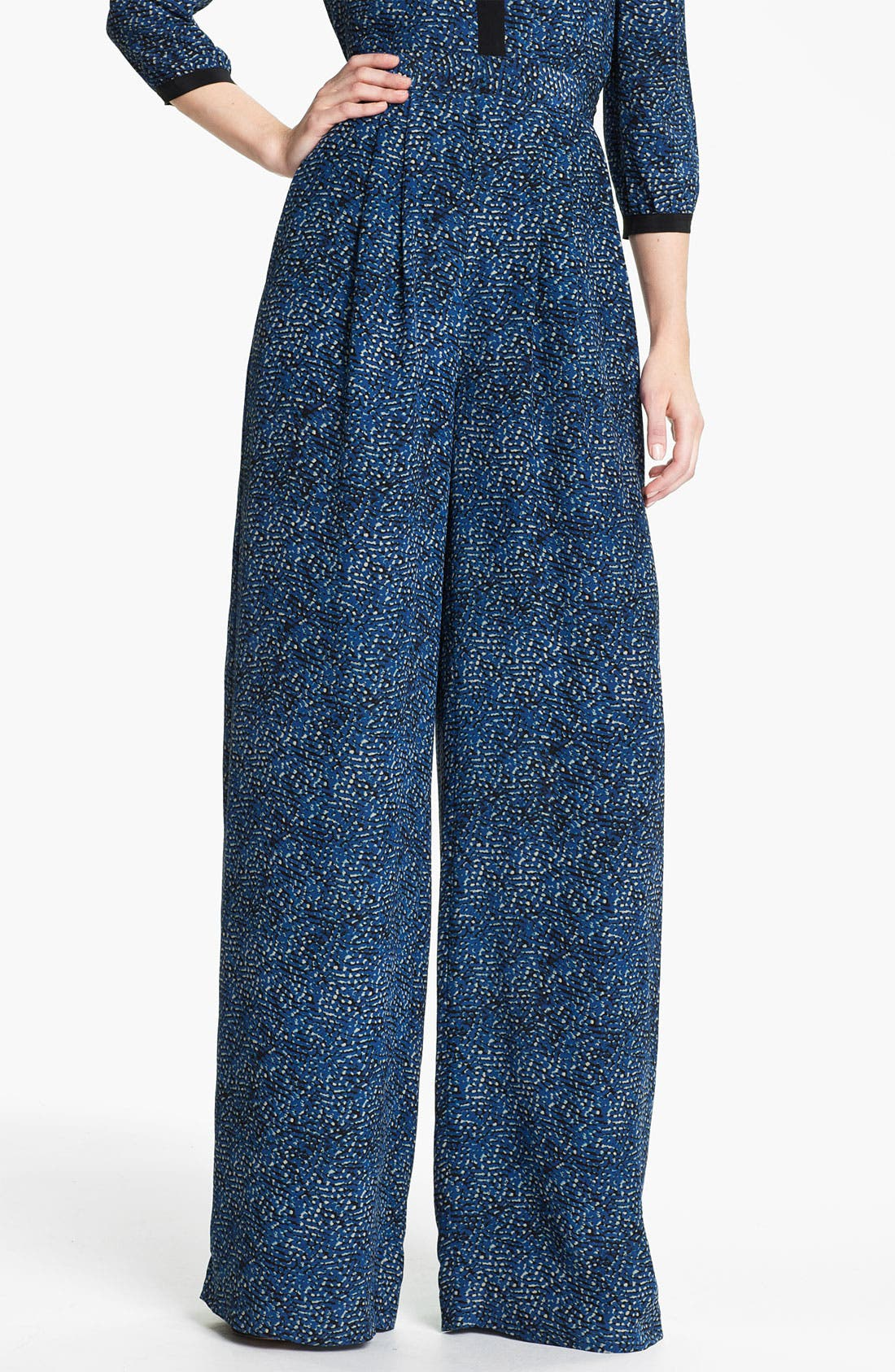 Alternate Image 1 Selected - Rachel Zoe 'Tori' Abstract Dot Print Silk Pants