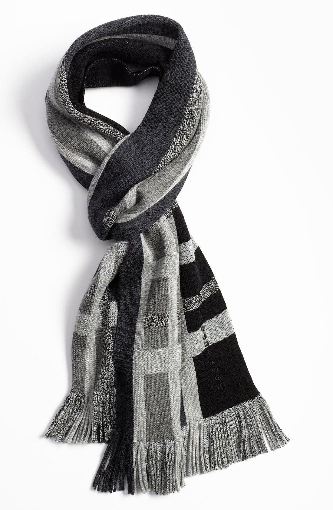 Main Image - BOSS Black 'Famit' Wool Scarf