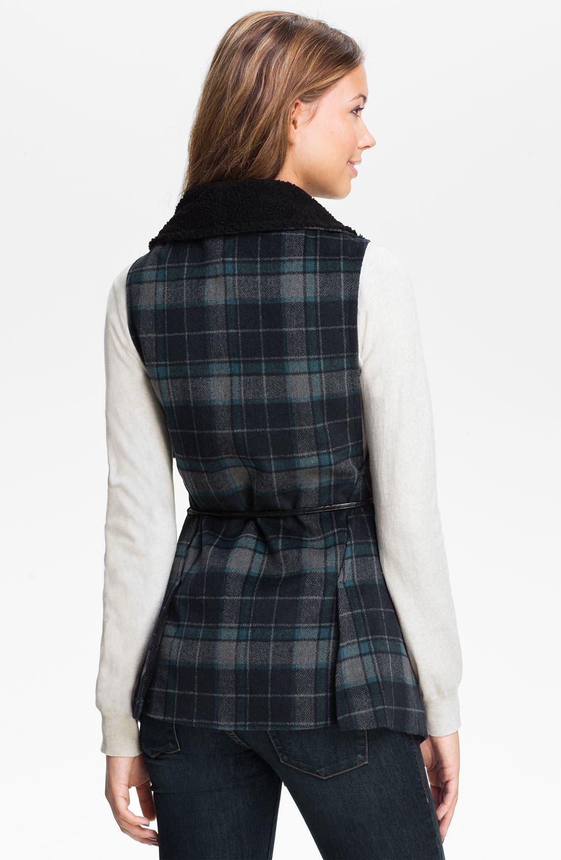 Alternate Image 2  - Jolt Faux Shearling Vest (Juniors)