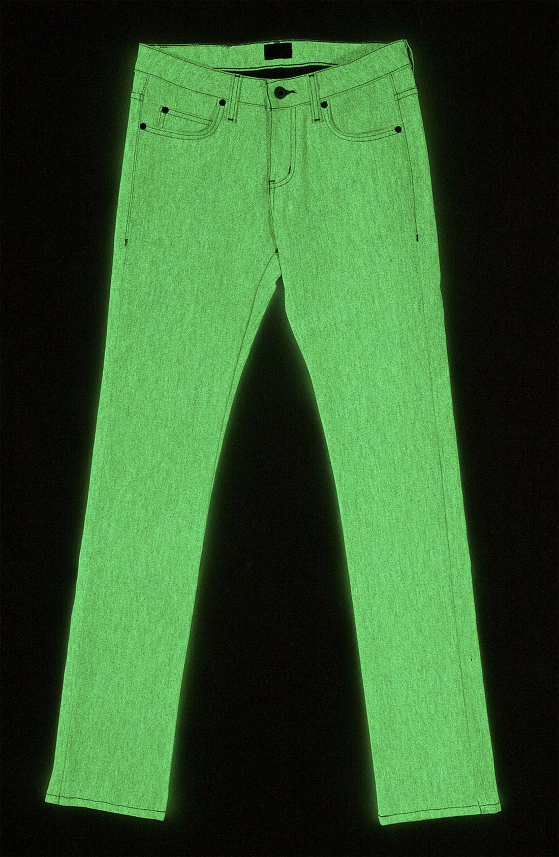 Alternate Image 2  - Naked & Famous Denim 'Skinny Guy' Slim Straight Leg Jeans (Grey Glow In The Dark)