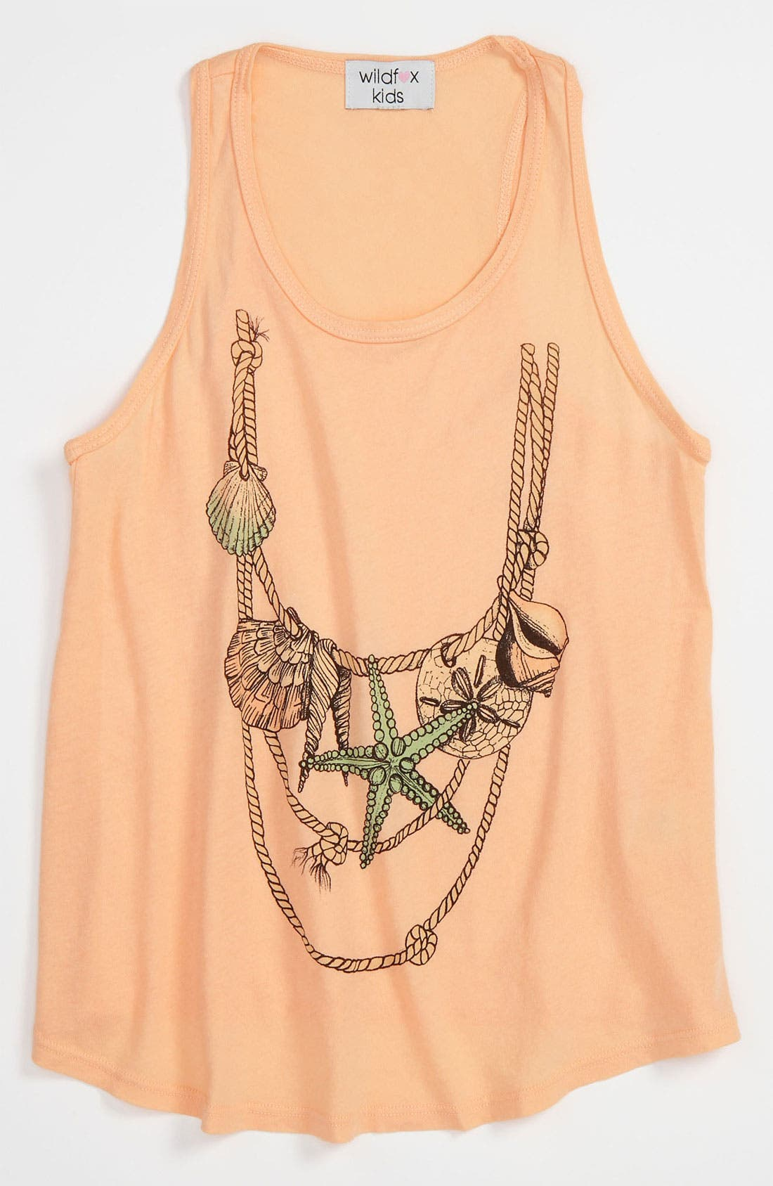 Alternate Image 1 Selected - Wildfox 'Shell Necklace' Tank (Big Girls)