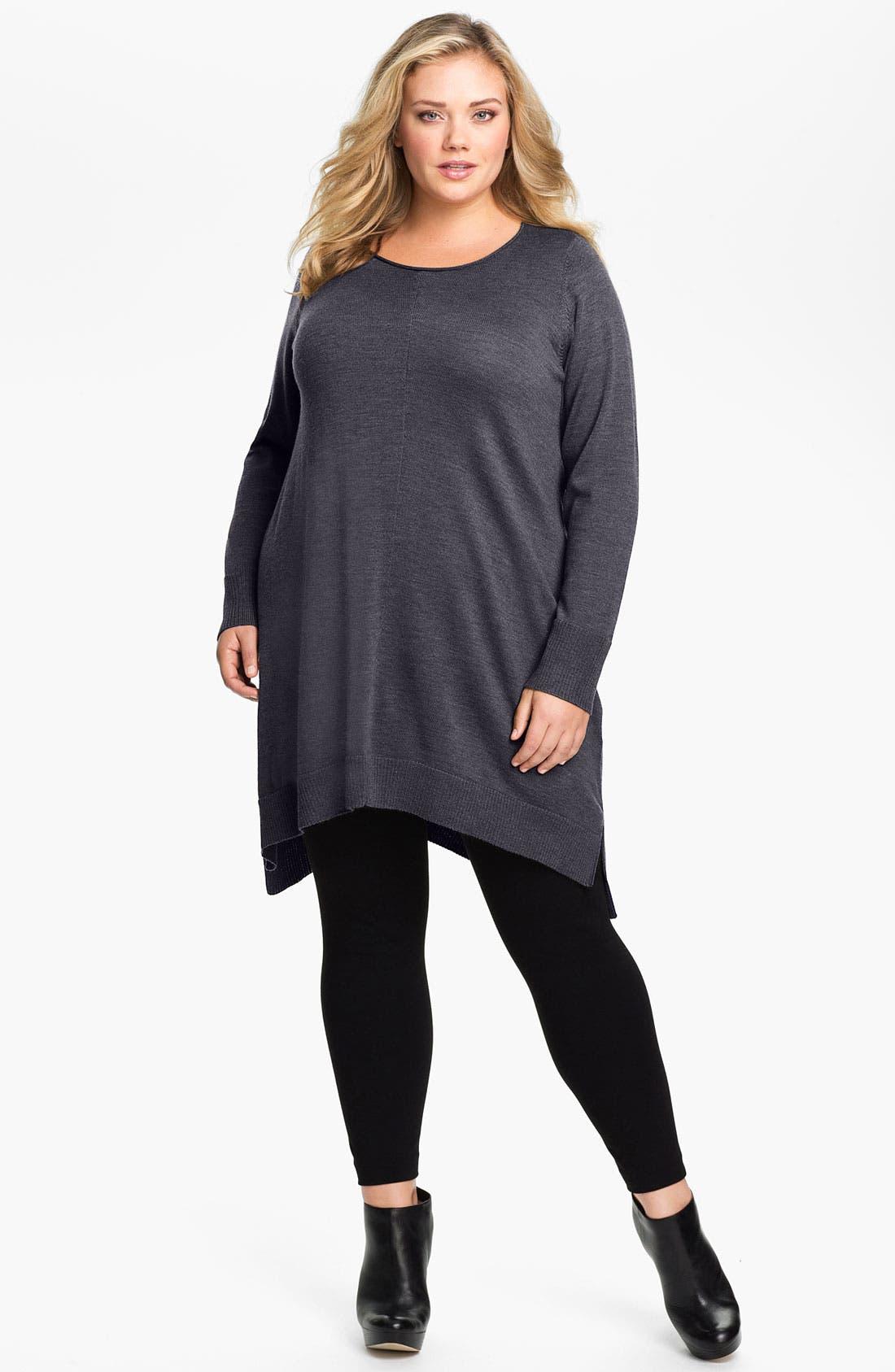 Main Image - Eileen Fisher Merino Wool Layering Dress (Plus Size)