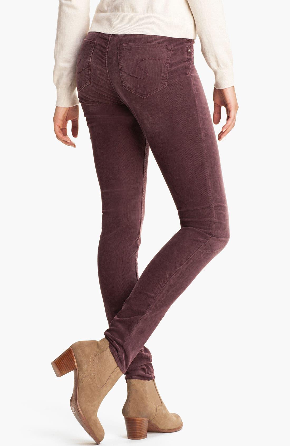 Alternate Image 2  - Silver Jeans Co. 'Suki' Skinny Corduroy Pants (Juniors)