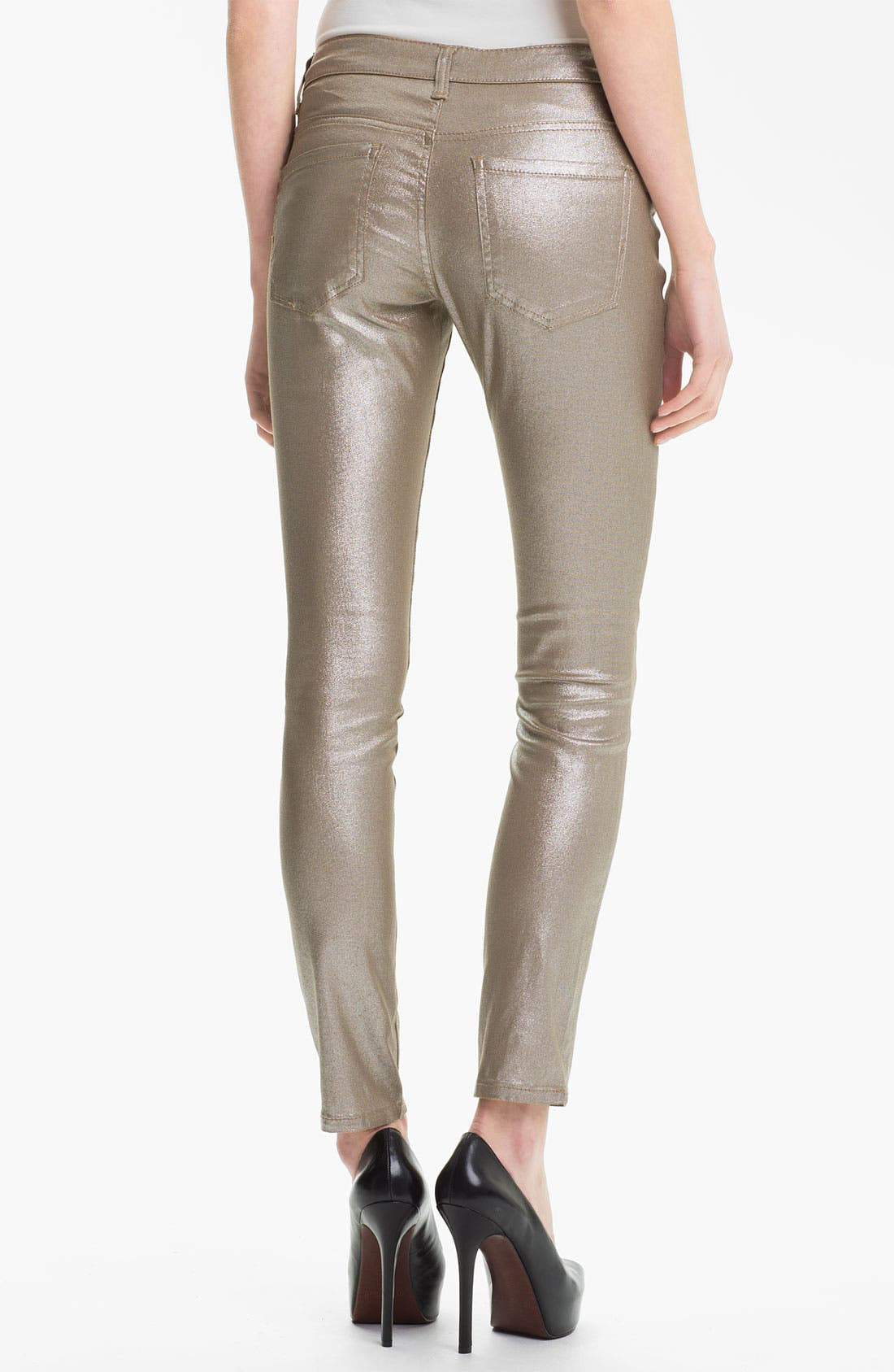Alternate Image 2  - Liverpool Jeans Company 'Abby' Metallic Coated Skinny Jeans (Petite) (Online Exclusive)