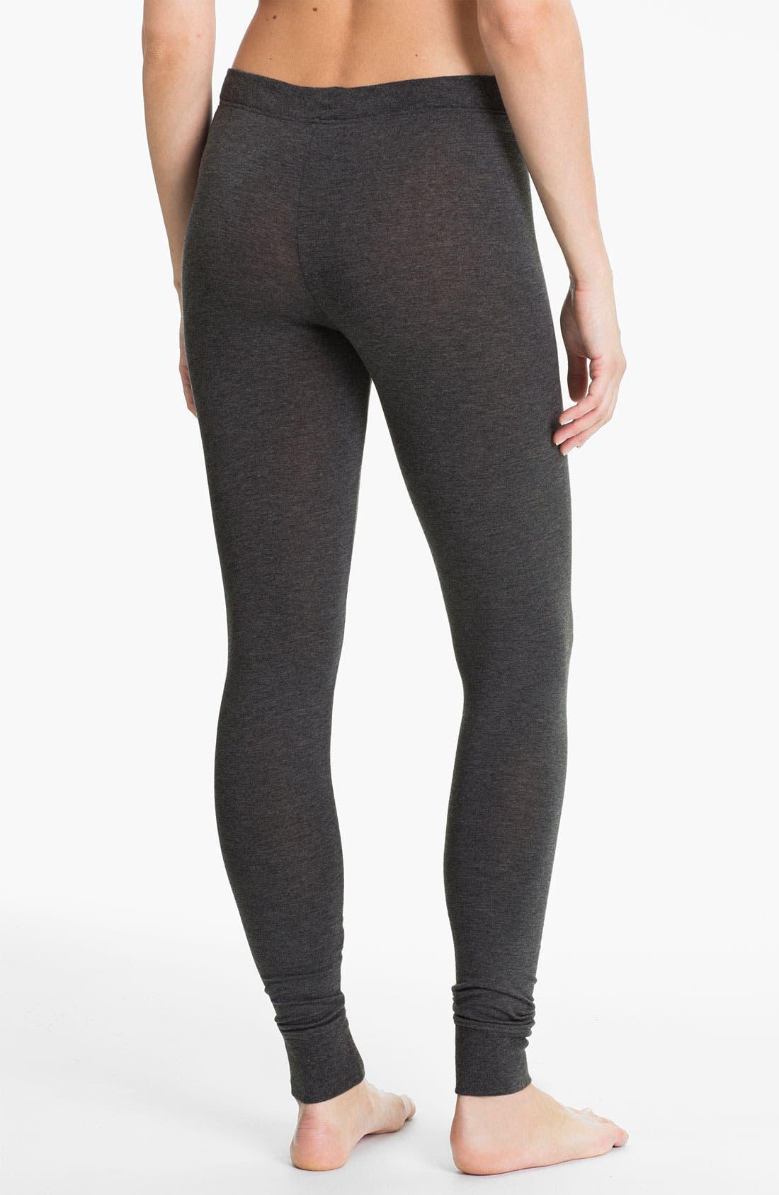Alternate Image 2  - DKNY Base Layer Cuff Leggings