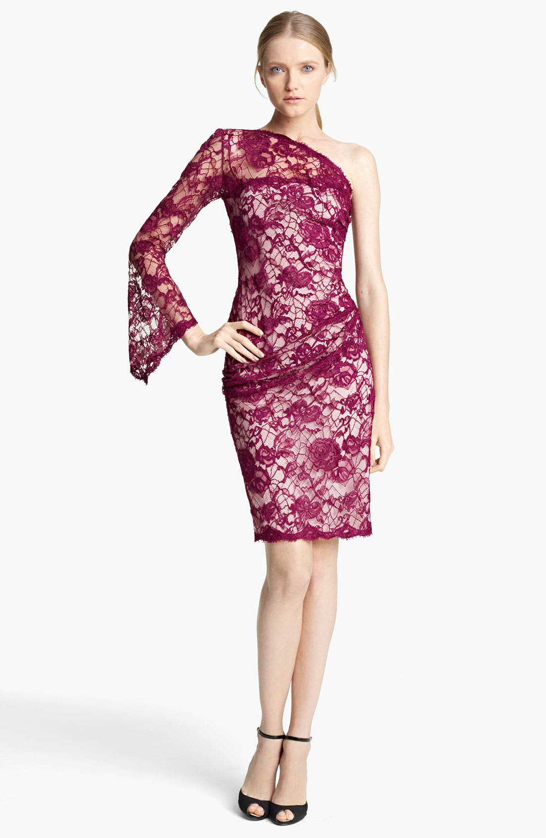 Alternate Image 1 Selected - Emilio Pucci One Shoulder Lace Dress