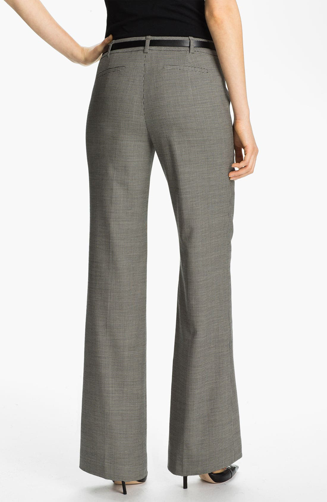 Alternate Image 2  - Classiques Entier® Belted Houndstooth Stretch Wool Pants