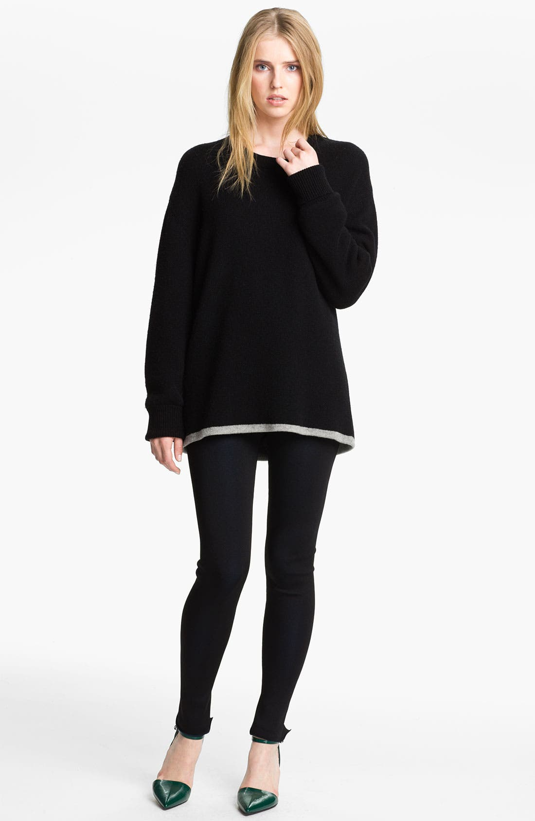 Alternate Image 1 Selected - Alexander Wang Reversible Wool & Cashmere Sweatshirt