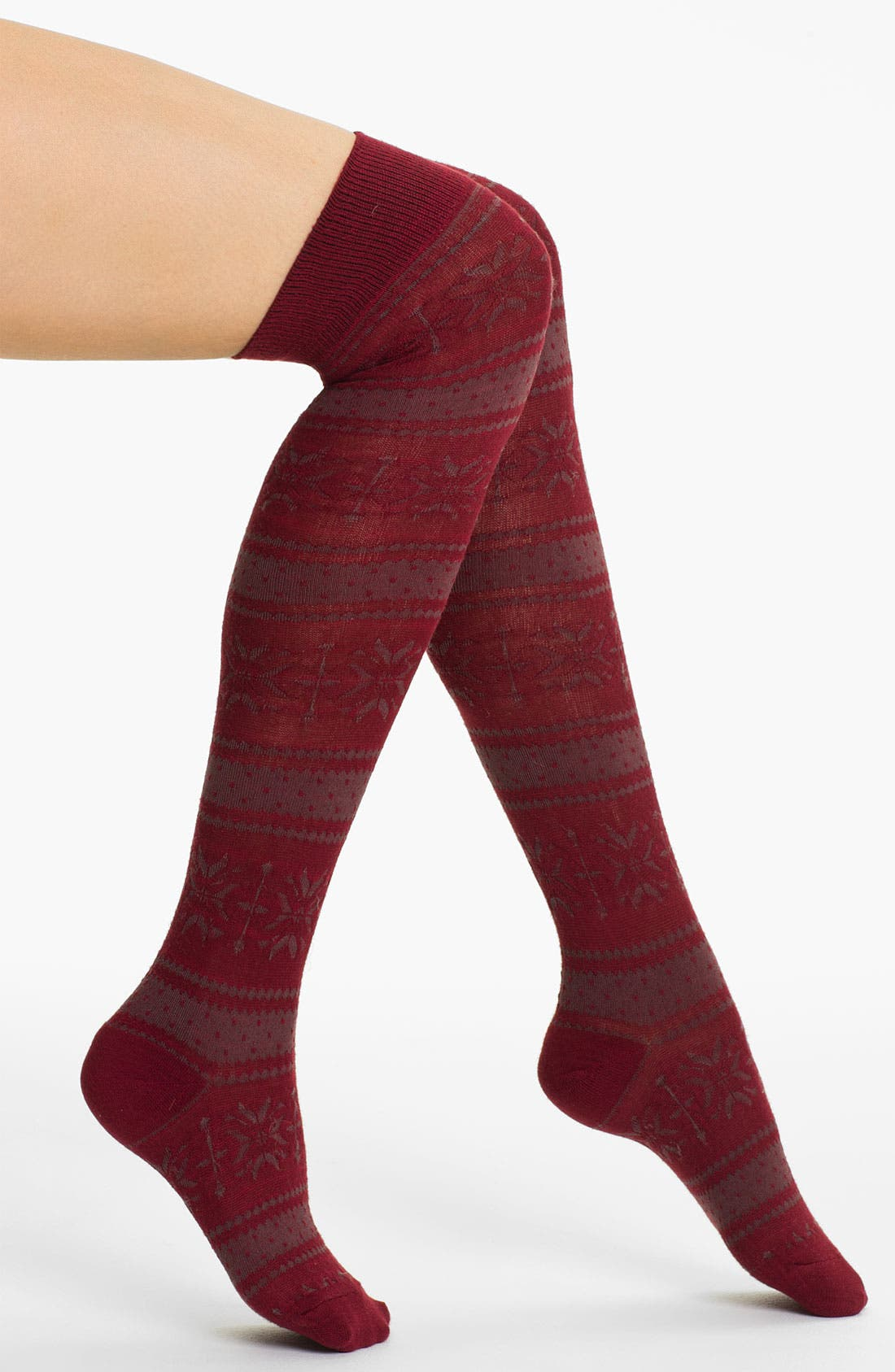 Alternate Image 1 Selected - Free People Fair Isle Over the Knee Socks