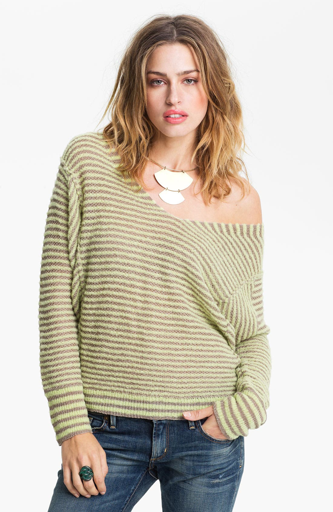 Main Image - Free People 'Bumblebee' Stripe Sweater