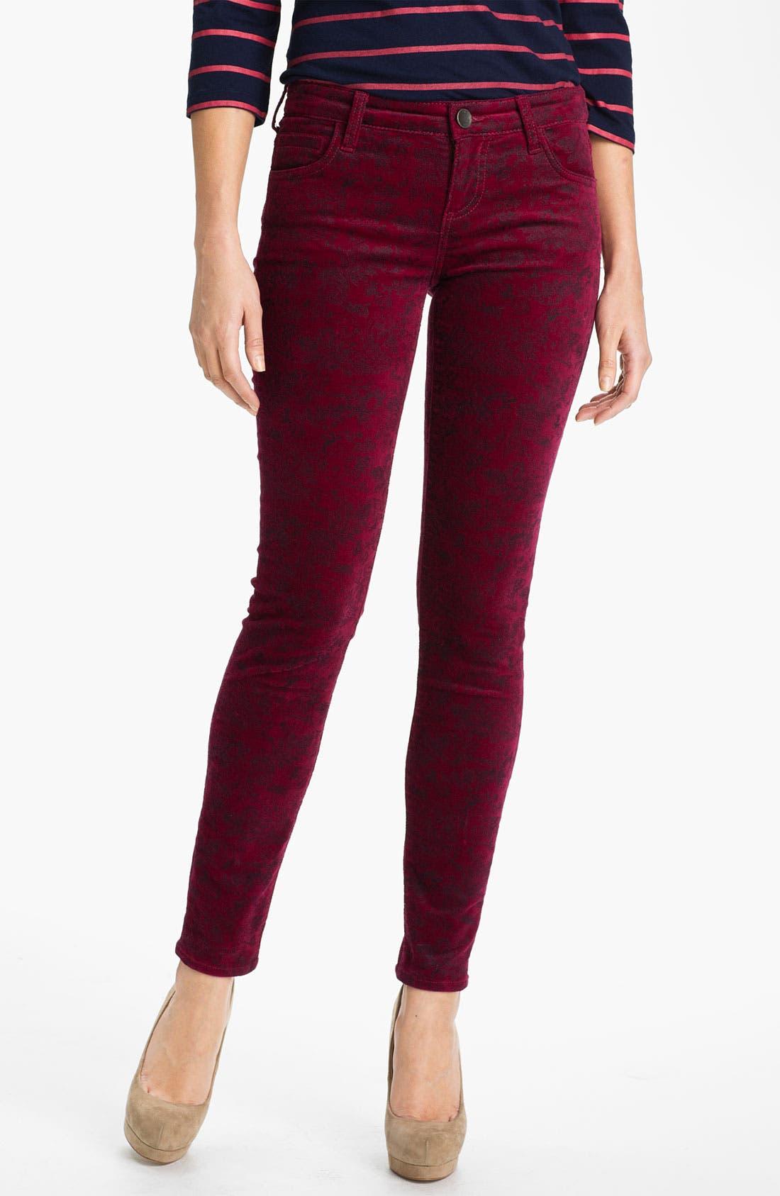 Alternate Image 1 Selected - KUT from the Kloth Velveteen Skinny Jeans