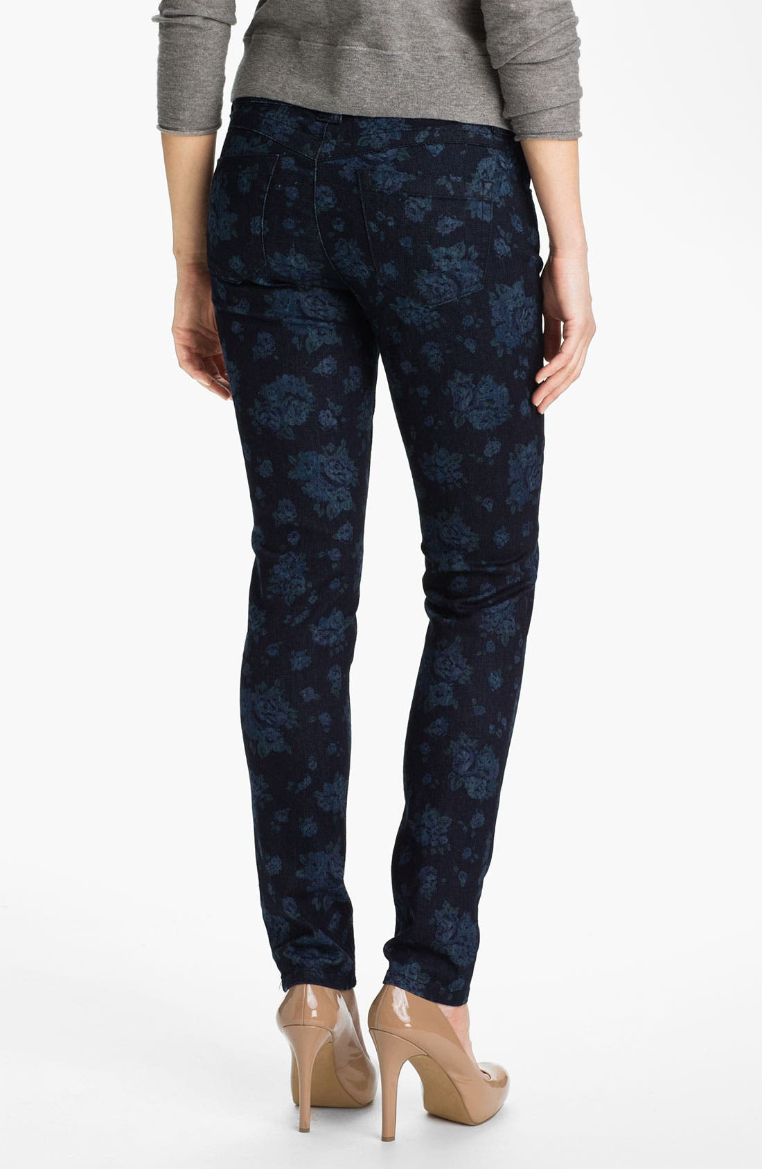 Alternate Image 2  - Wit & Wisdom Floral Print Skinny Jeans (Nordstrom Exclusive)
