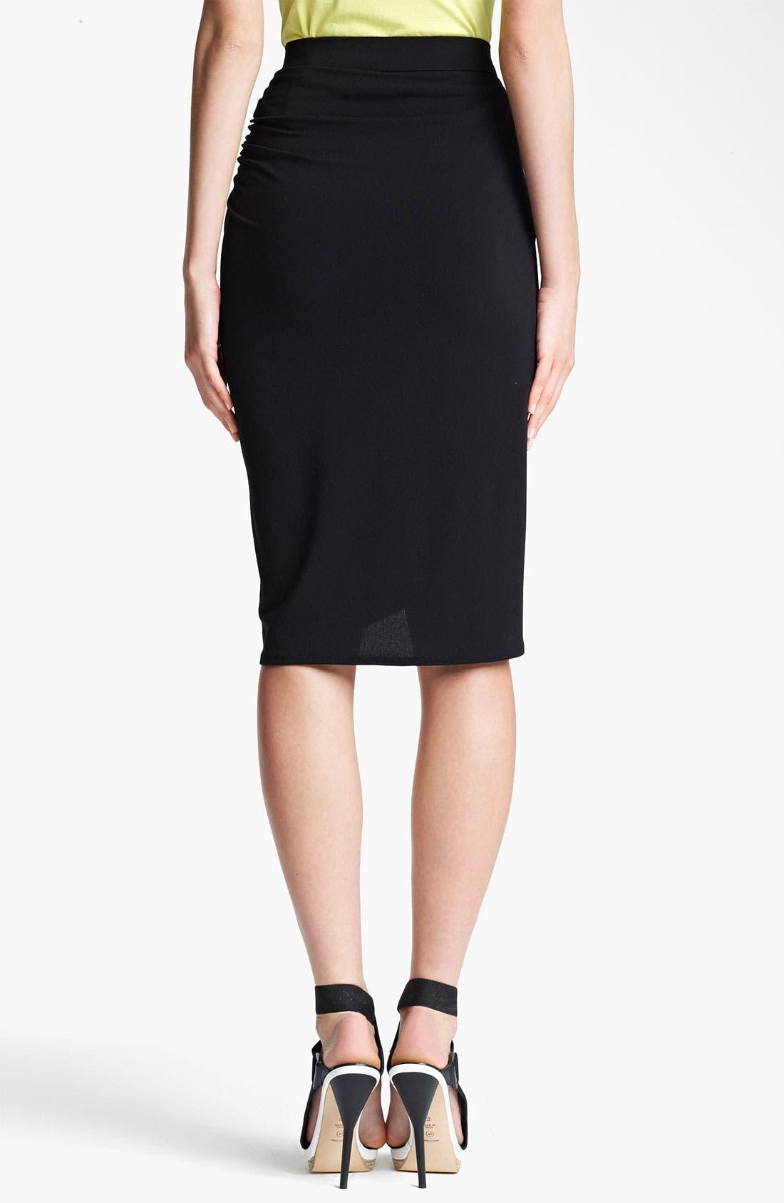 Alternate Image 2  - Lida Baday Stretch Jersey Faux Wrap Skirt