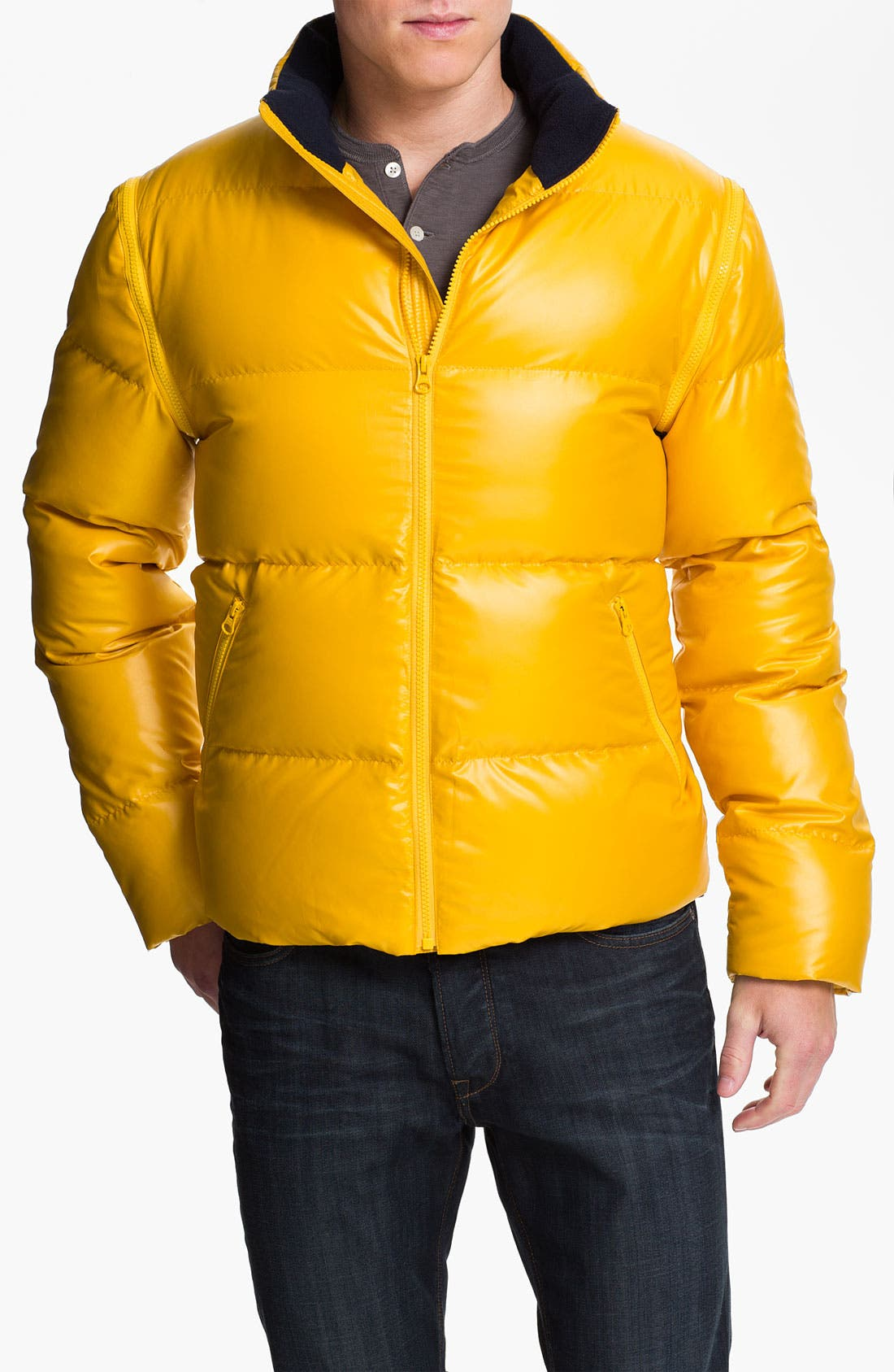 Main Image - Brooks Brothers Convertible Down Jacket