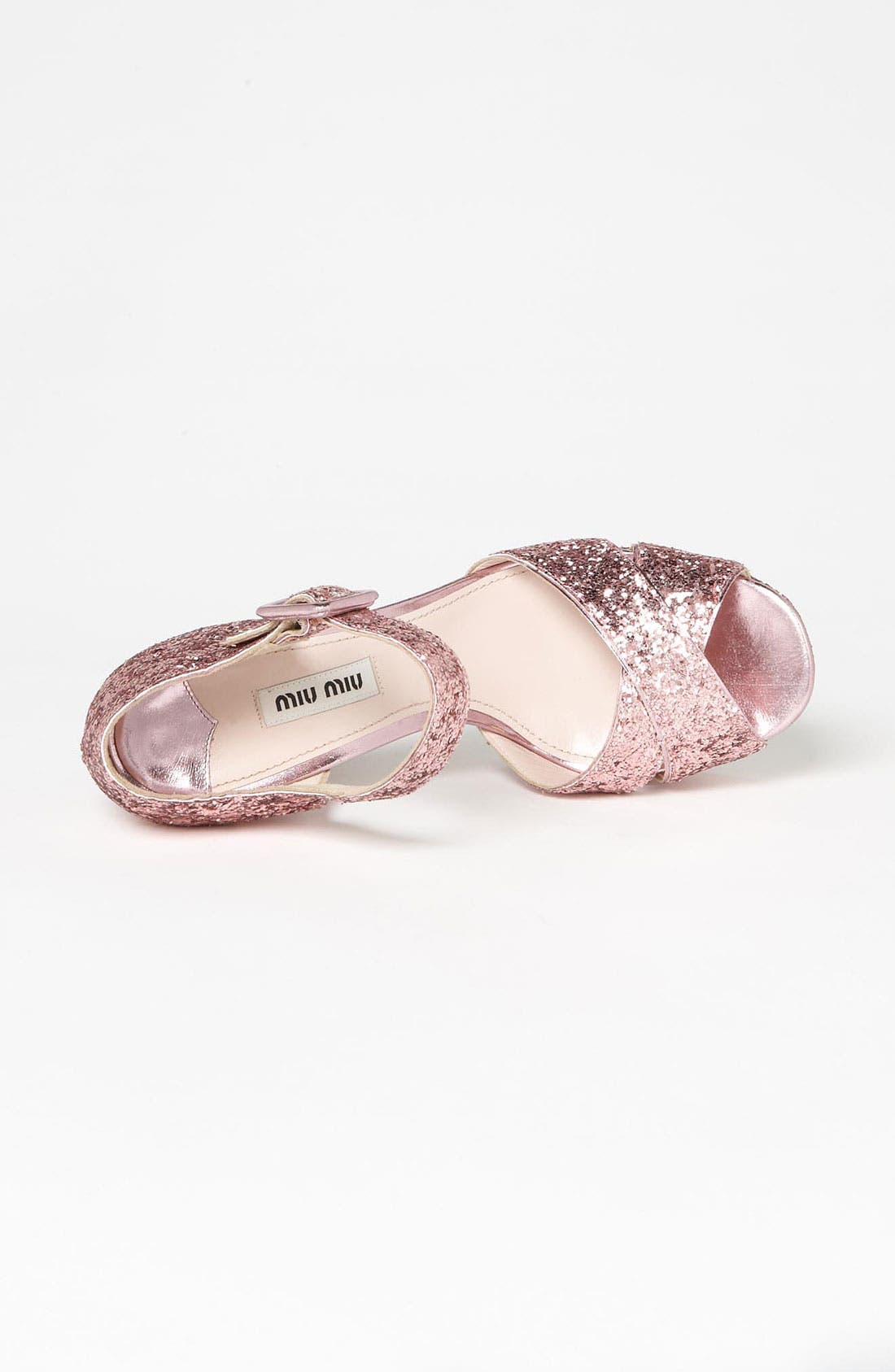 Alternate Image 3  - Miu Miu Glitter Block Heel Sandal
