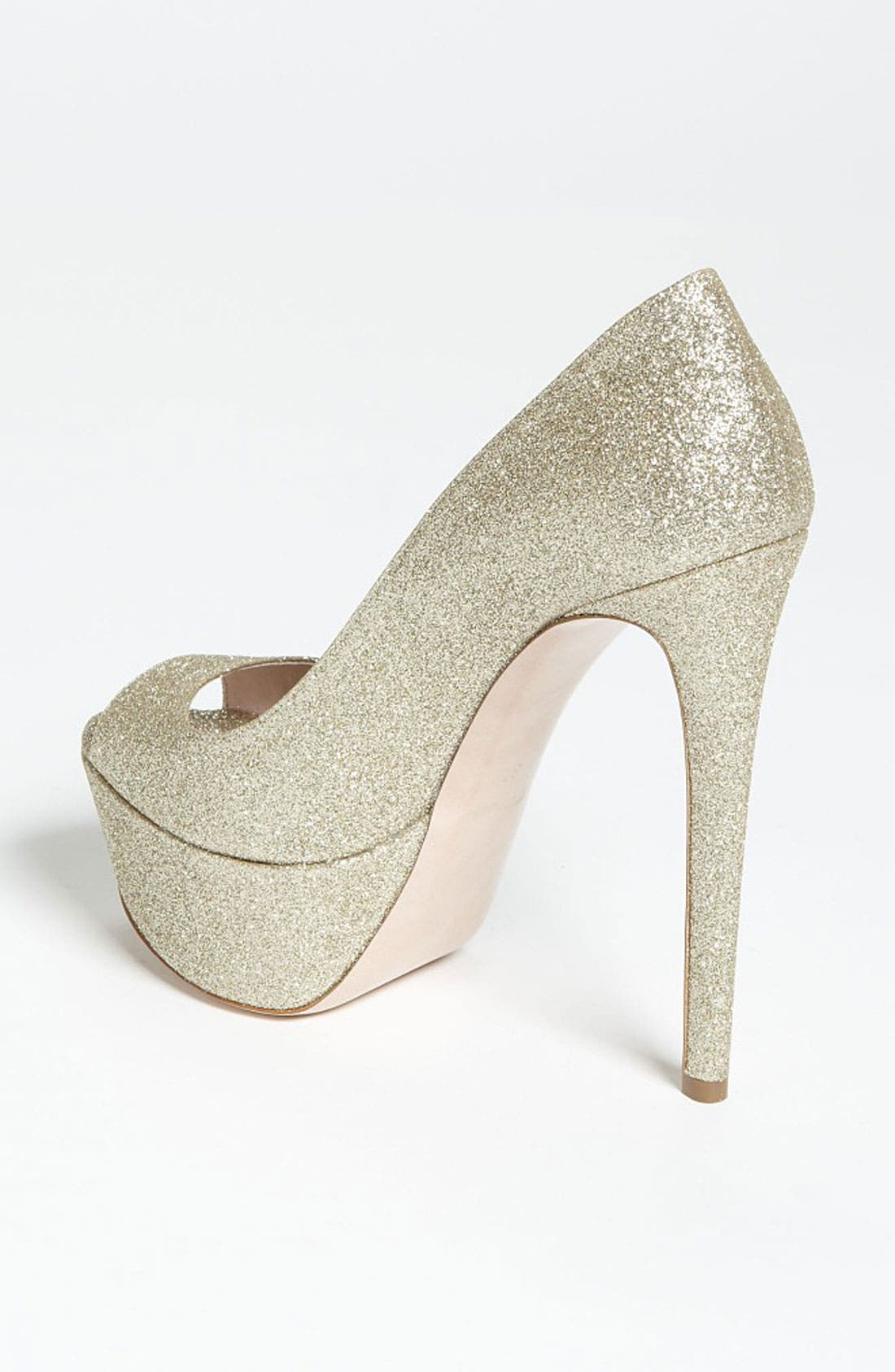 Alternate Image 2  - Miu Miu Glitter Peep Toe Pump