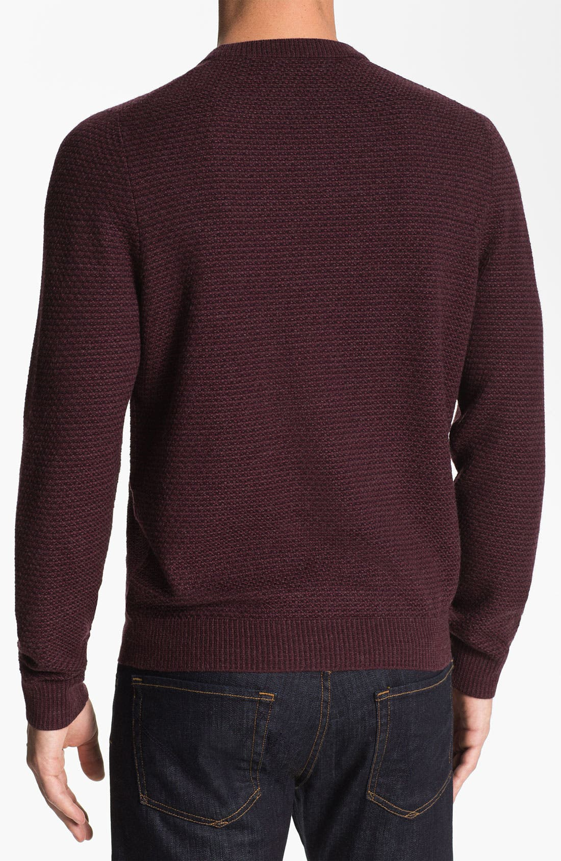 Alternate Image 2  - Nordstrom Merino Wool Crewneck Sweater