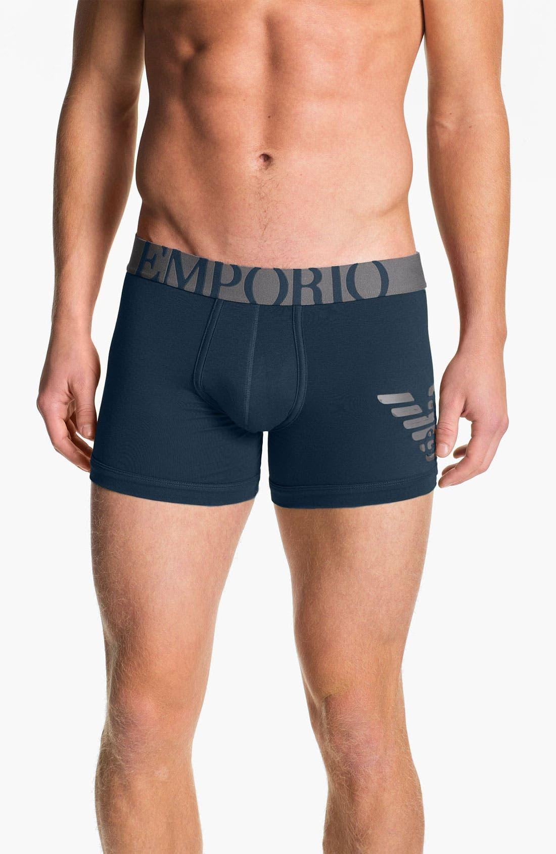 Alternate Image 1 Selected - Emporio Armani 'Eagle' Stretch Cotton Boxer Briefs