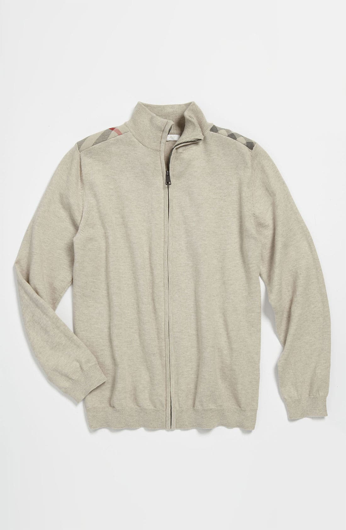 Alternate Image 1 Selected - Burberry Shoulder Patch Sweater (Big Boys)