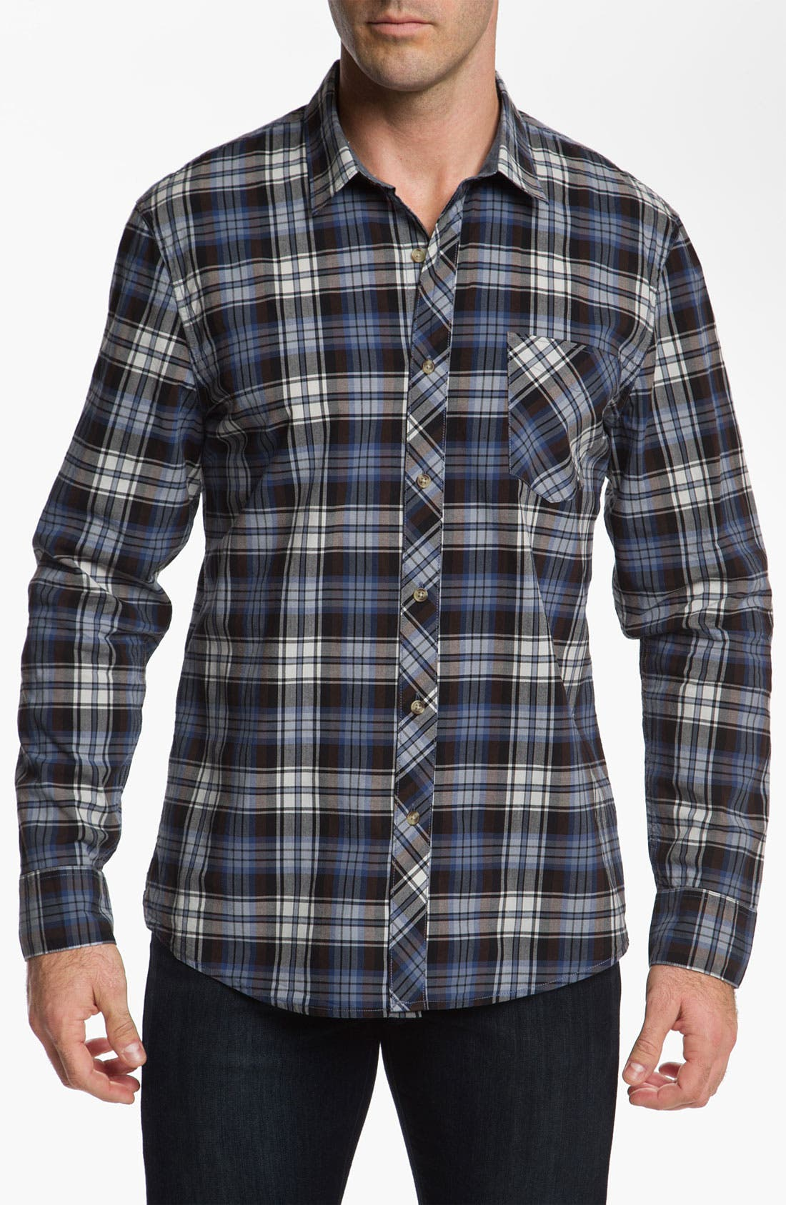 Alternate Image 1 Selected - 1901 Plaid Cotton Poplin Shirt