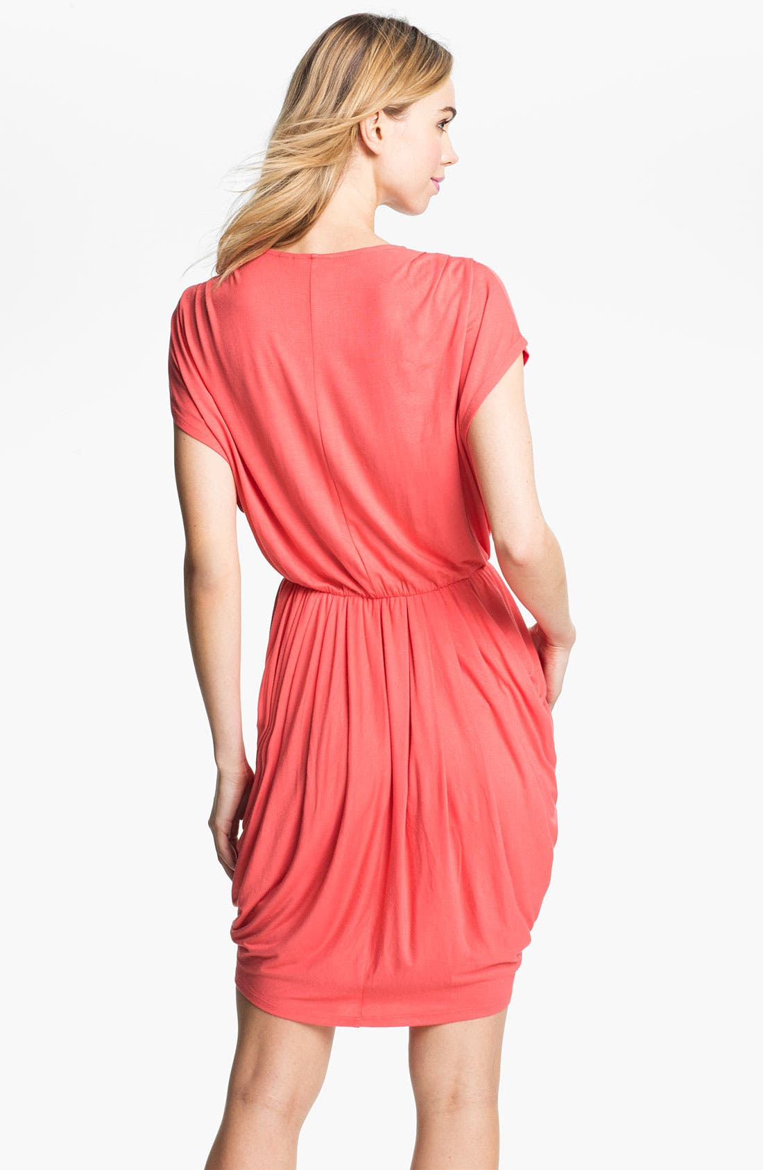 Alternate Image 2  - Halogen® Faux Wrap Pleated Dress (Online Only)