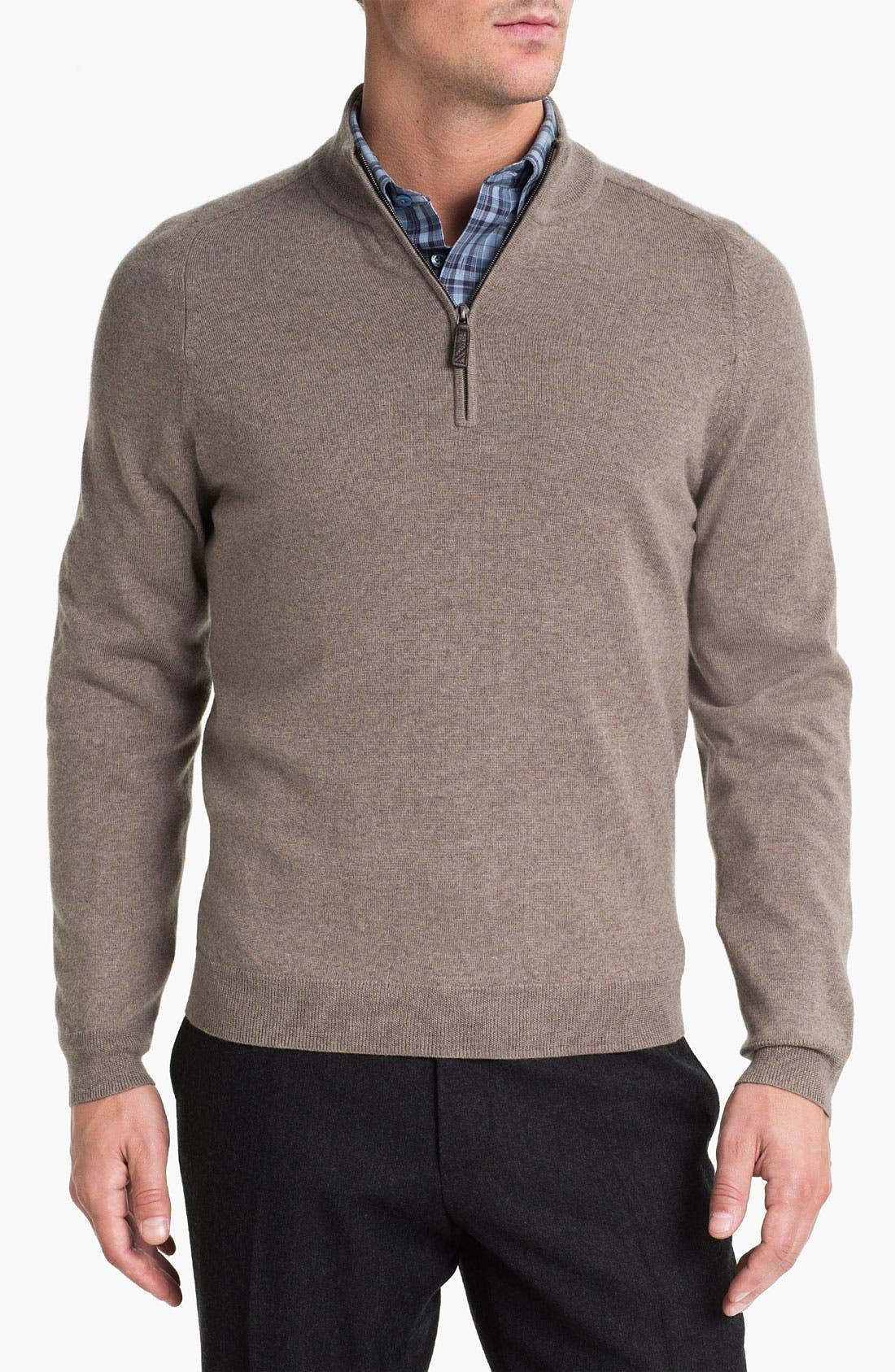 Alternate Image 1 Selected - Nordstrom Merino Wool Half Zip Sweater