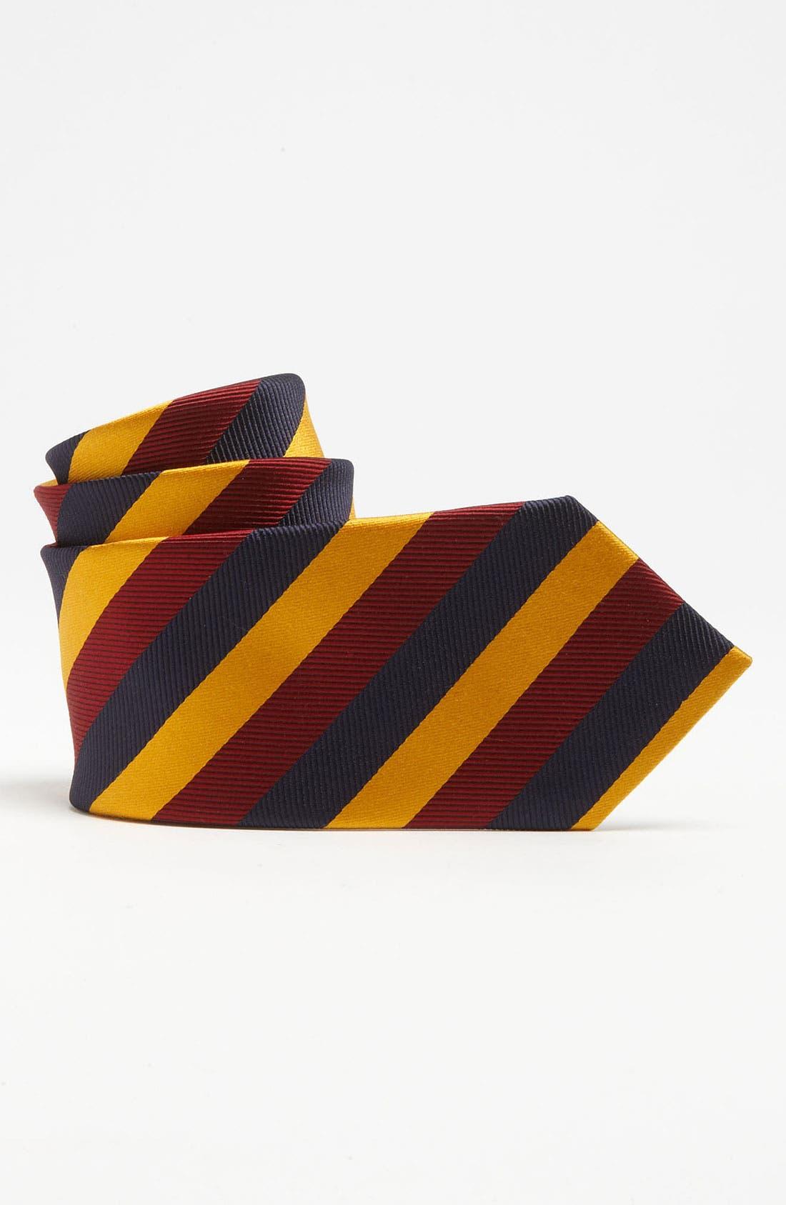 Alternate Image 1 Selected - Brooks Brothers Triple Stripe Tie (Big Boys)