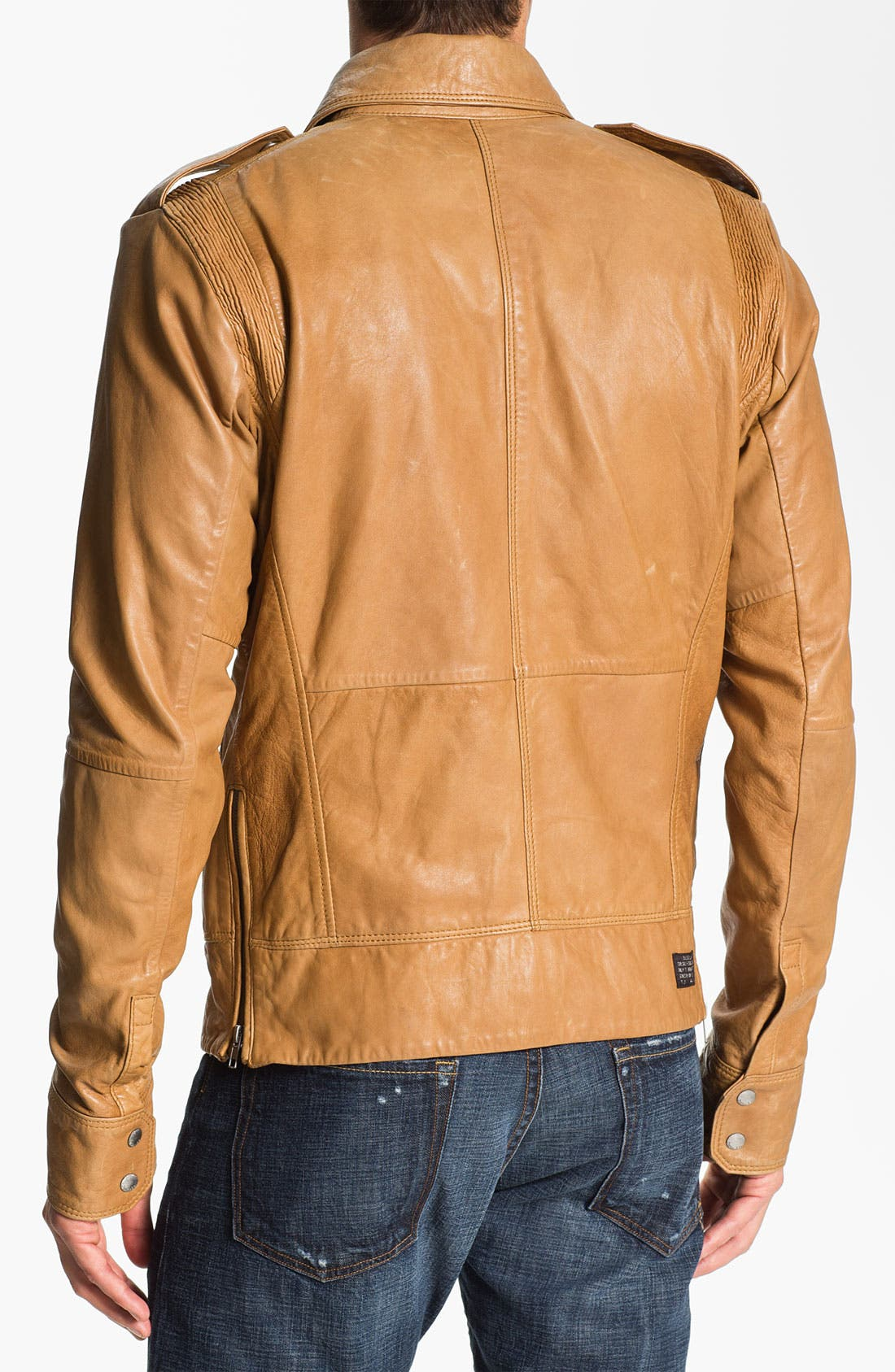 Alternate Image 2  - DIESEL® 'Lisardo' Leather Jacket