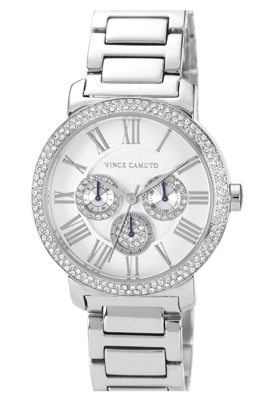 Main Image - Vince Camuto Crystal Accent Multifunction Watch, 41mm