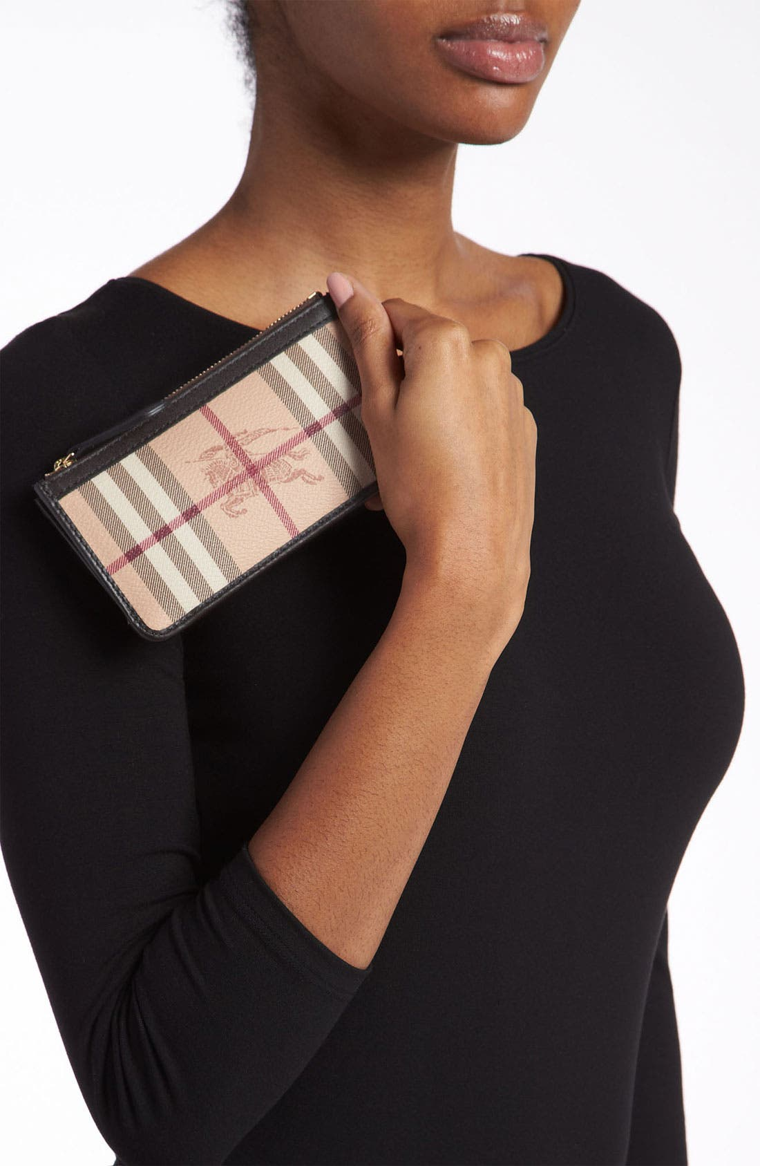 Alternate Image 2  - Burberry Check Print Coin & Card Case