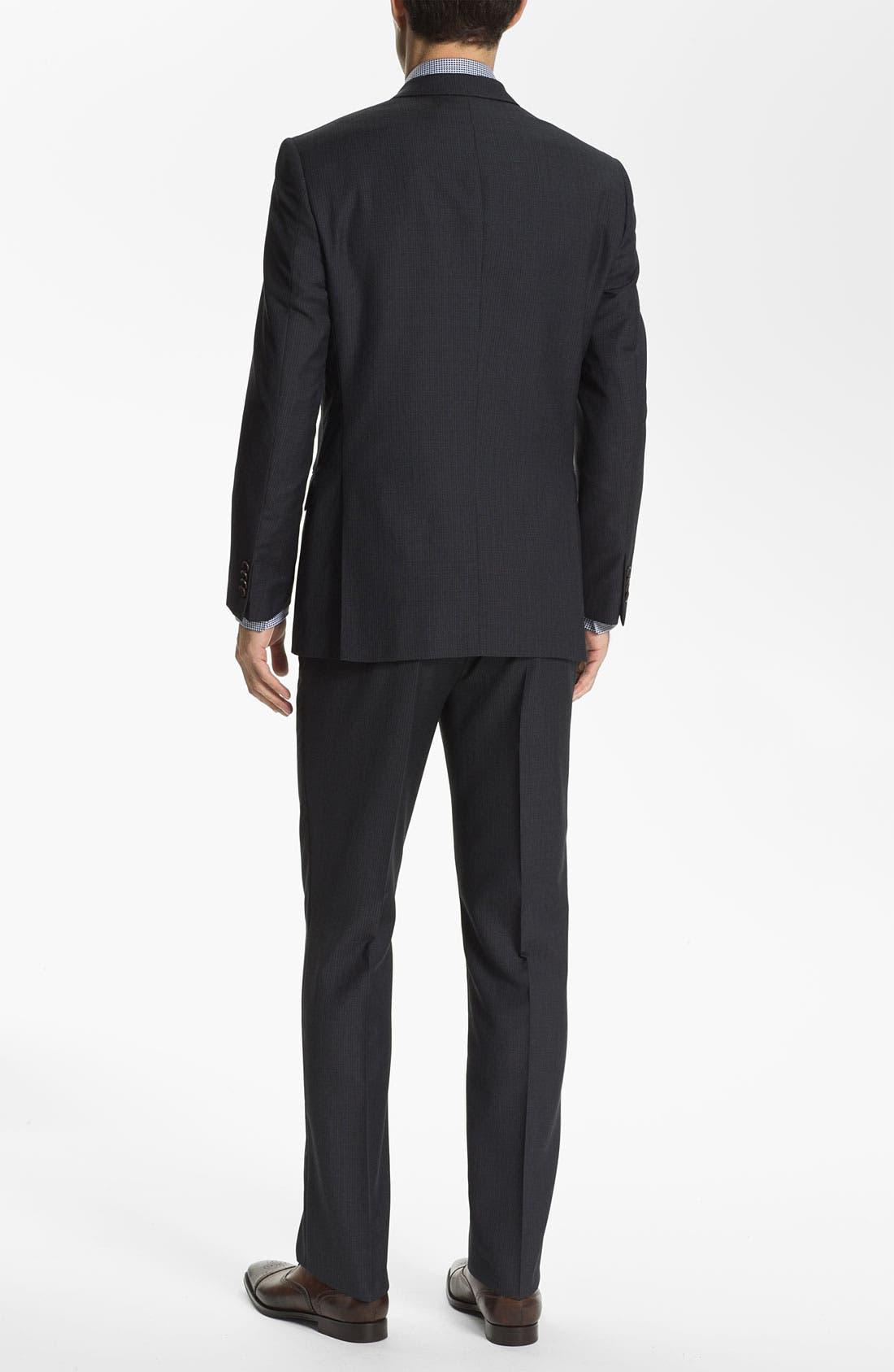 Alternate Image 3  - John Varvatos Star USA 'Bowery' Trim Fit Stripe Suit