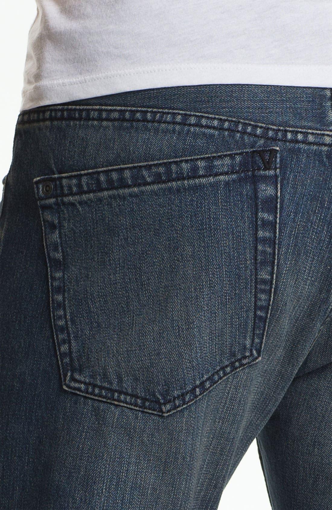 Alternate Image 4  - RVCA Super Slim Straight Leg Selvedge Jeans (Easy Does It)