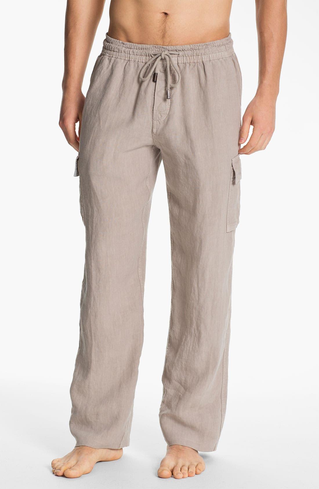 Main Image - Vilebrequin 'Ponant' Linen Cargo Pants