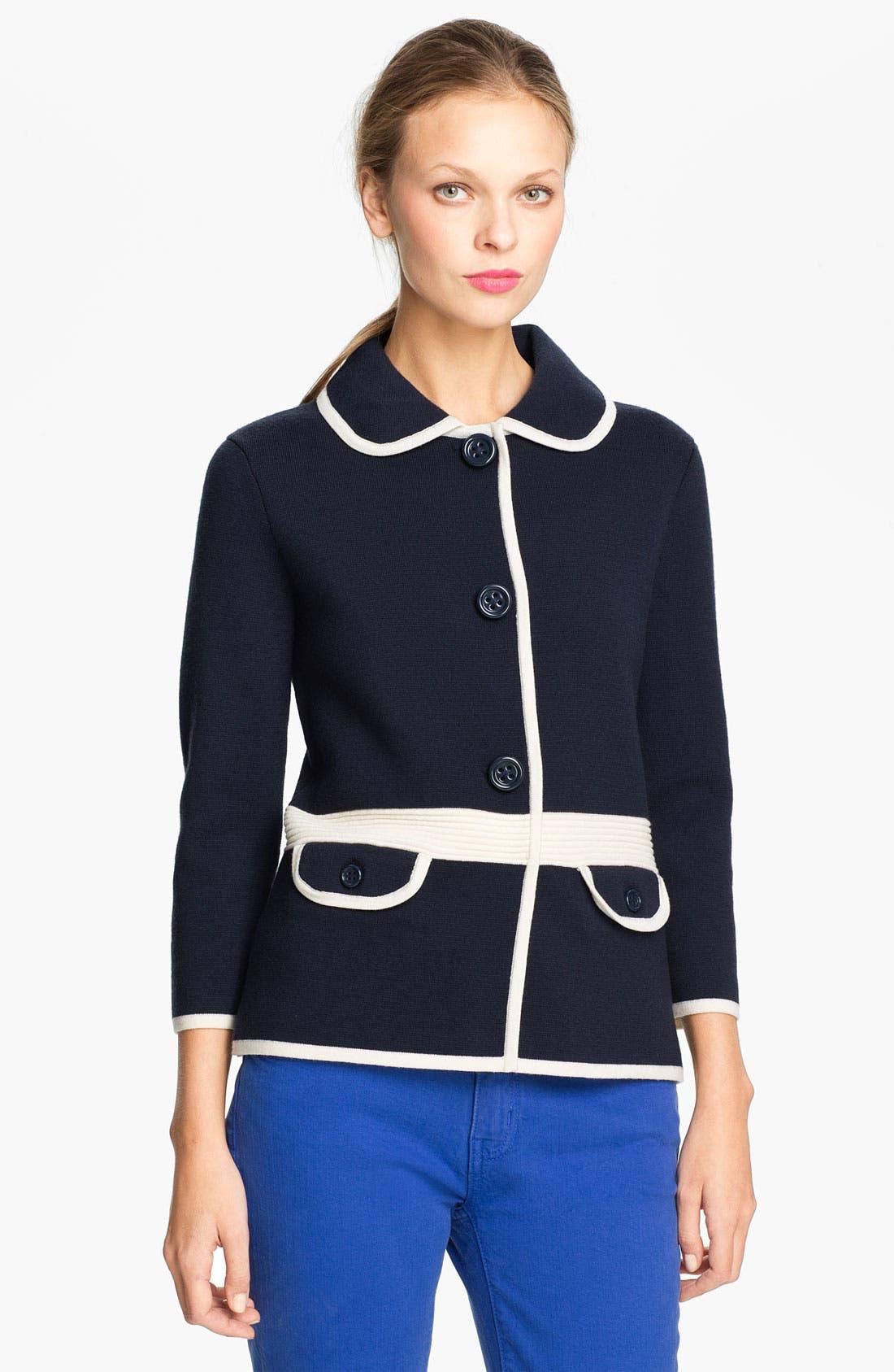 Main Image - kate spade new york 'mayson' sweater jacket