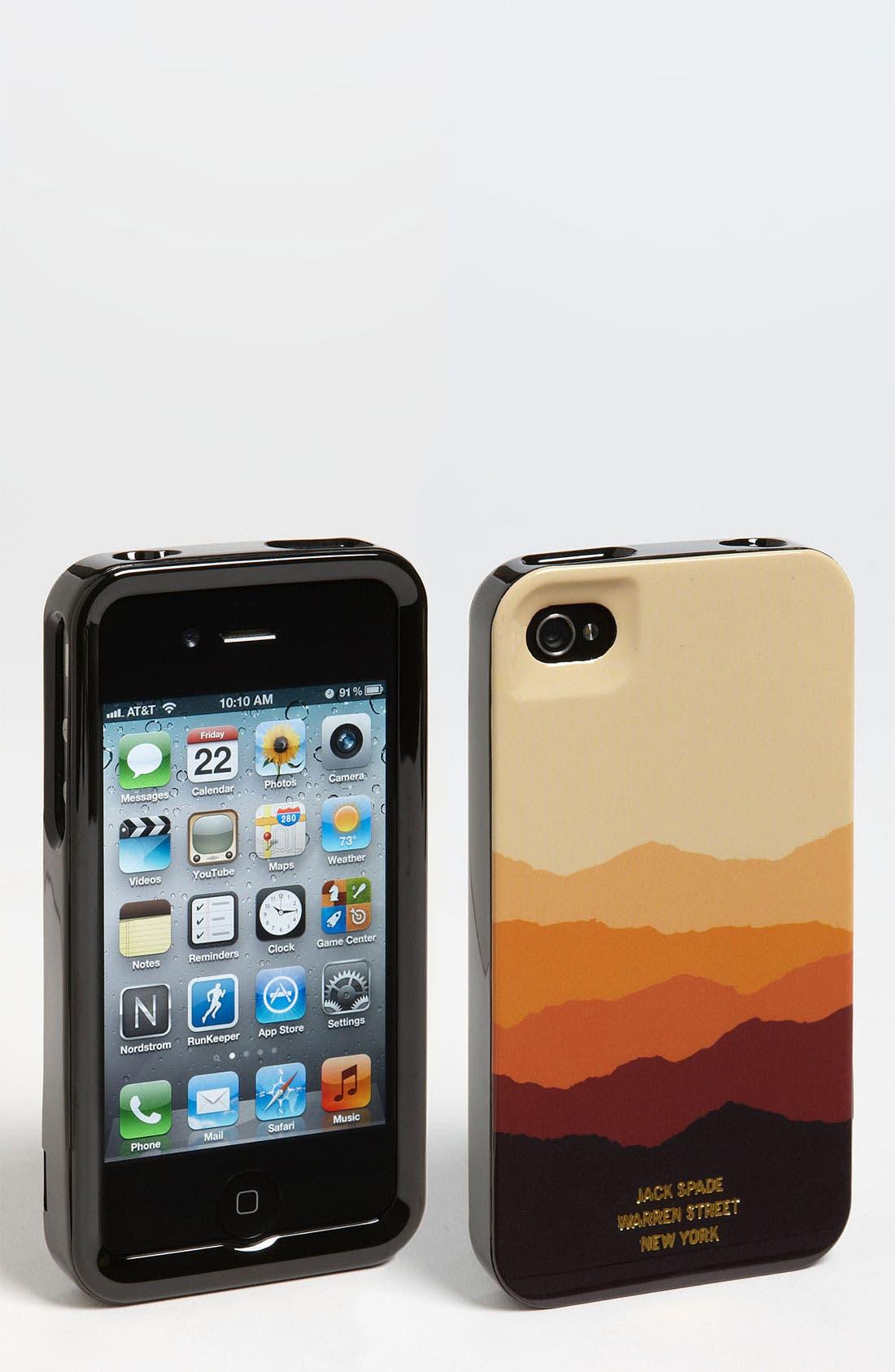 Alternate Image 1 Selected - Jack Spade 'Mountain' iPhone 4 & 4S Case