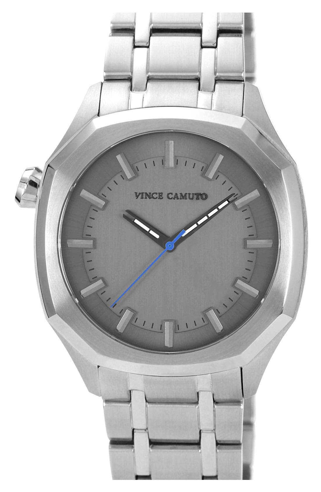 Alternate Image 1 Selected - Vince Camuto Octagonal Stick Index Bracelet Watch, 42mm