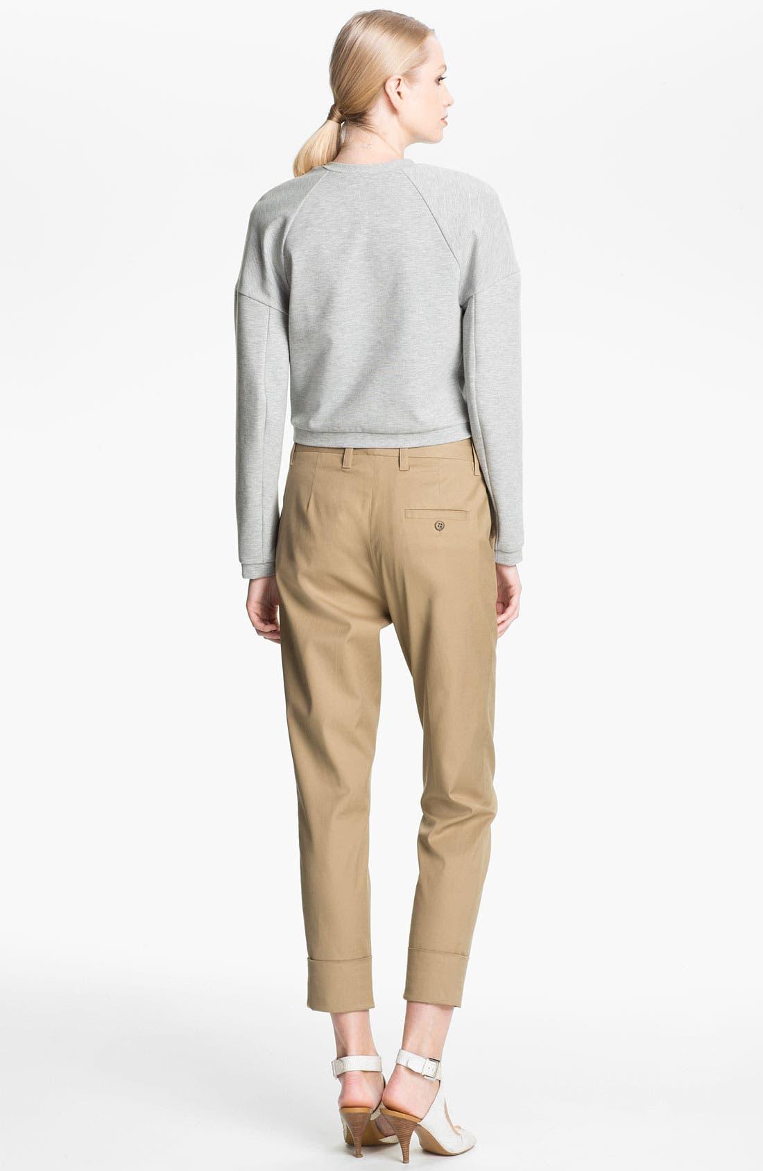 Alternate Image 2  - 3.1 Phillip Lim Bead Embellished Crop Sweatshirt