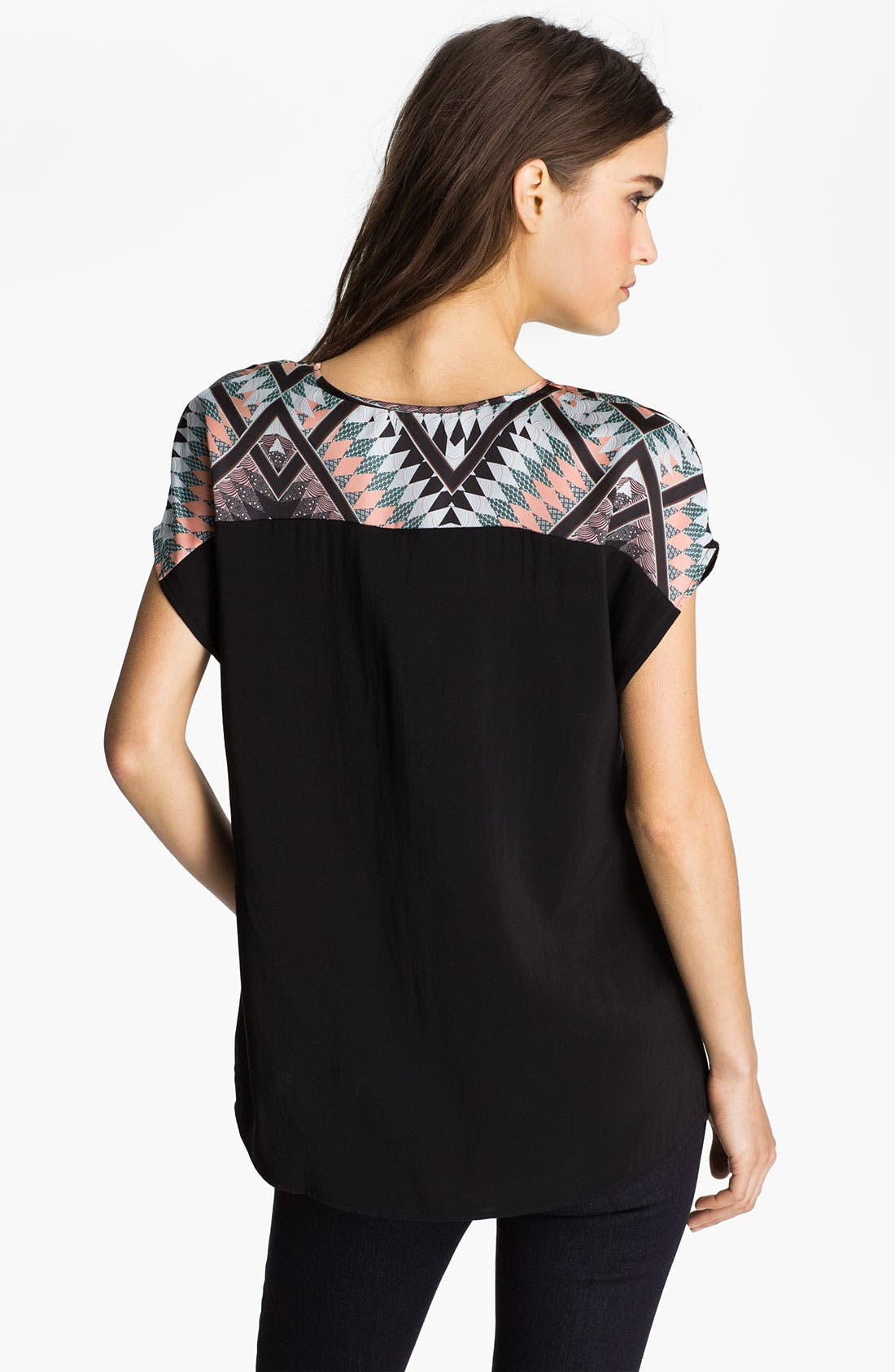Alternate Image 2  - Hinge Aztec Print Mixed Media Top