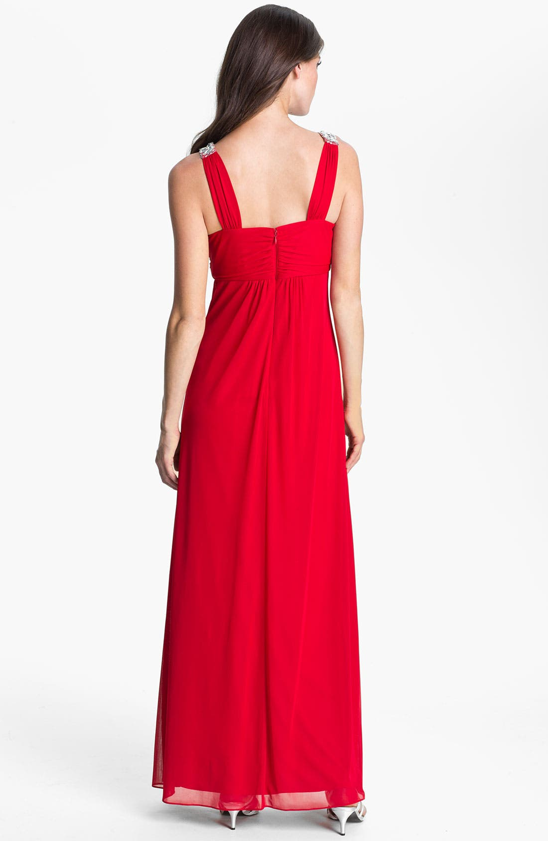 Alternate Image 2  - Hailey by Adrianna Papell Embellished Strap Knot Front Gown