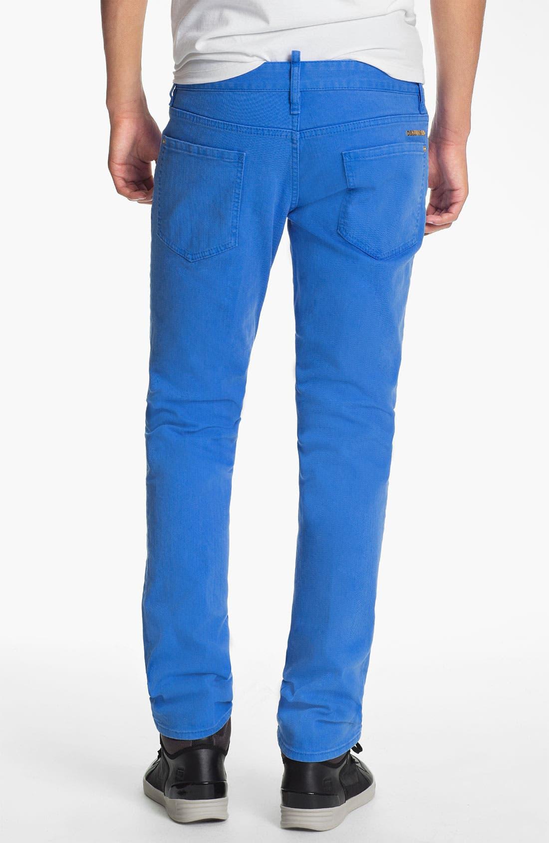Alternate Image 2  - Dsquared2 Garment Dyed Slim Fit Jeans